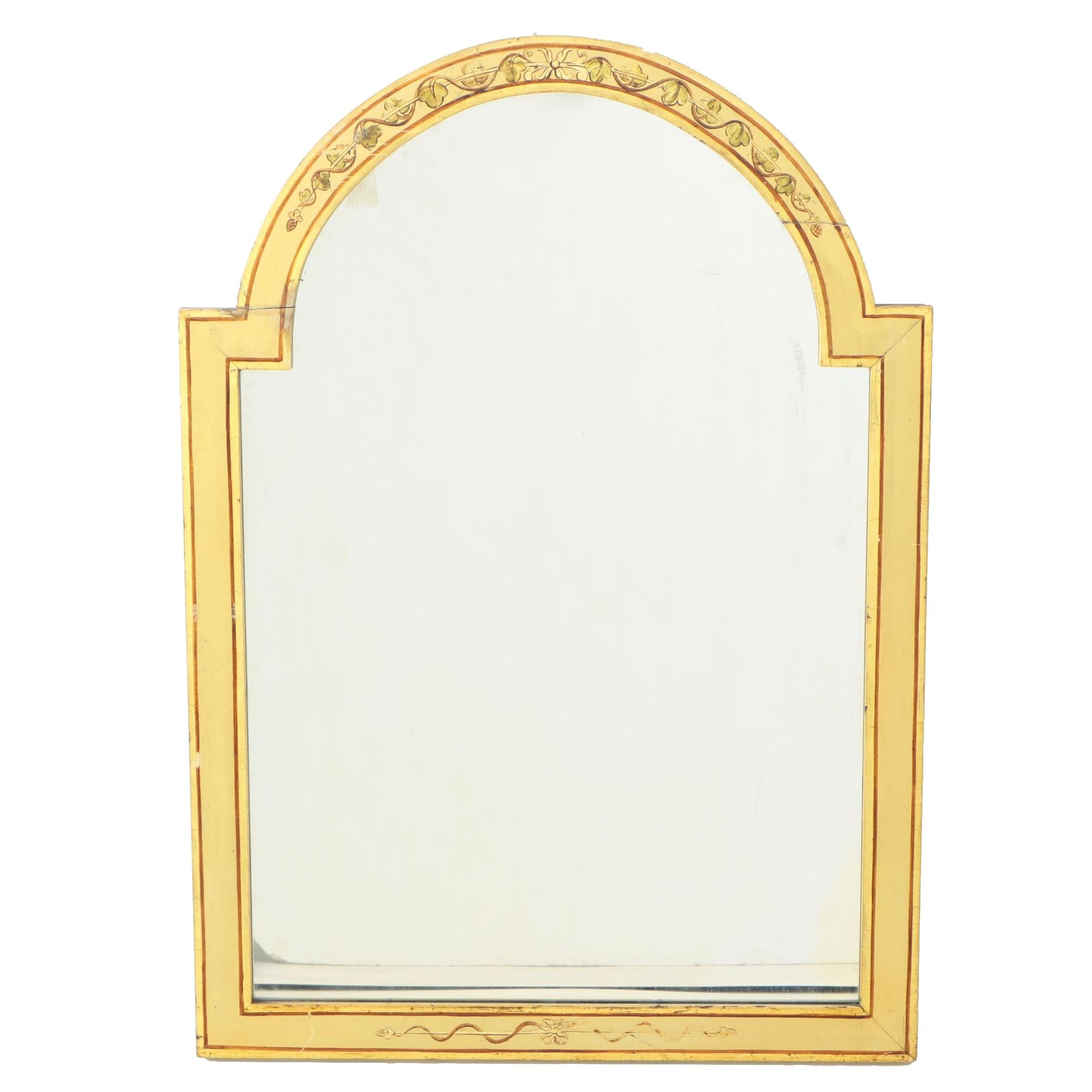Paint-Decorated Mirror, First Half 20th Century
