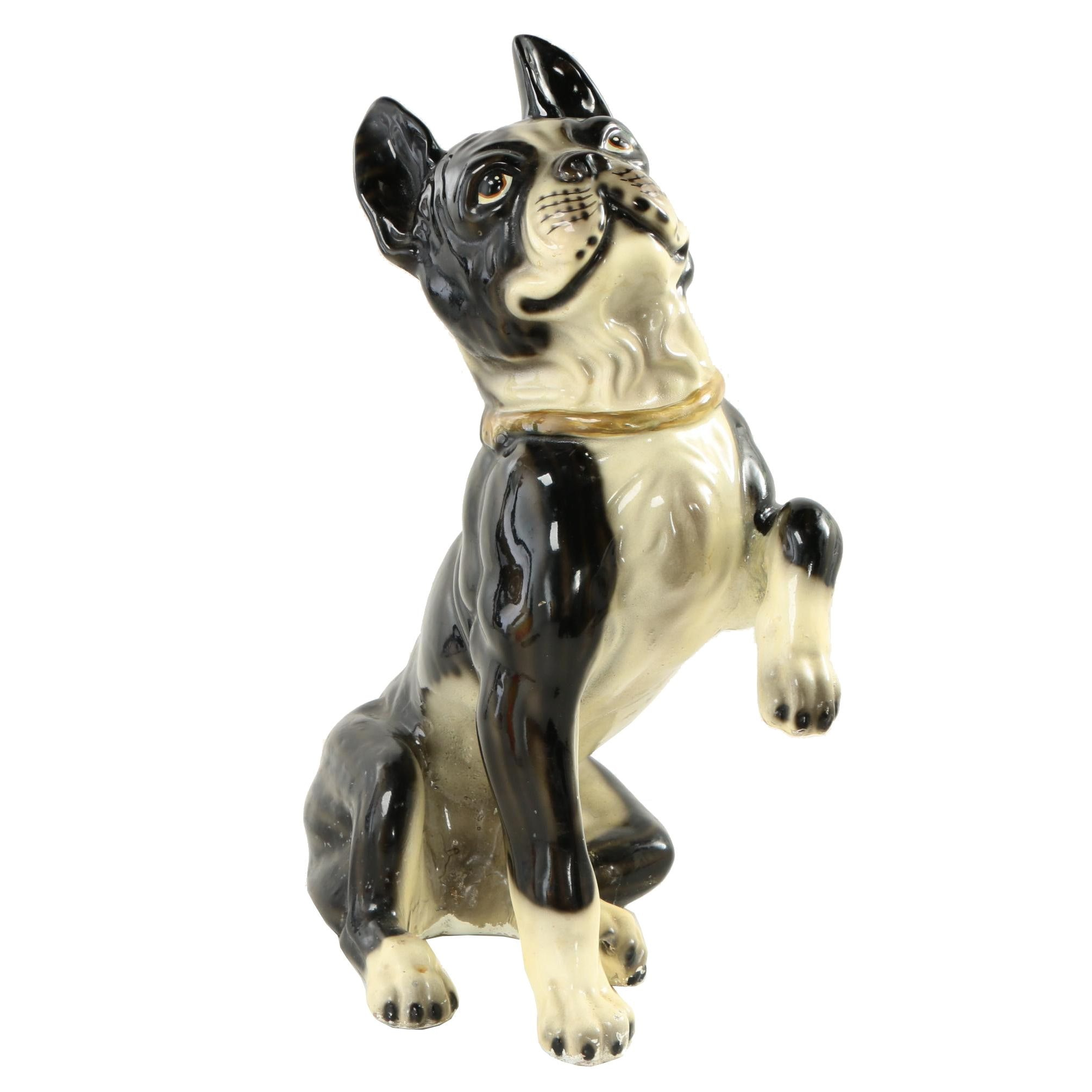 Ceramic Boston Terrier Statuette