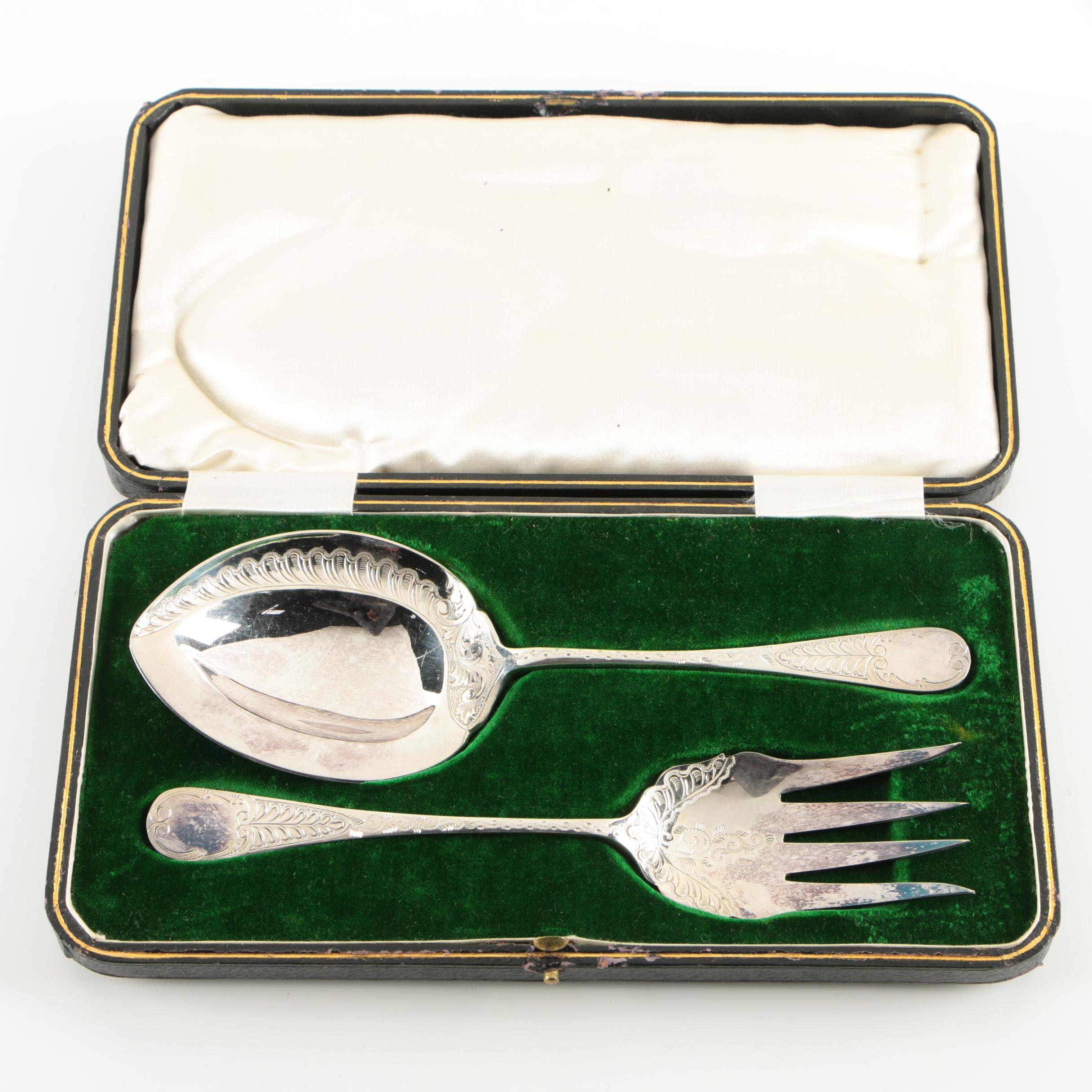 Frederick C. Asman & Co Silver Plate Serving Set, Early 20th Century