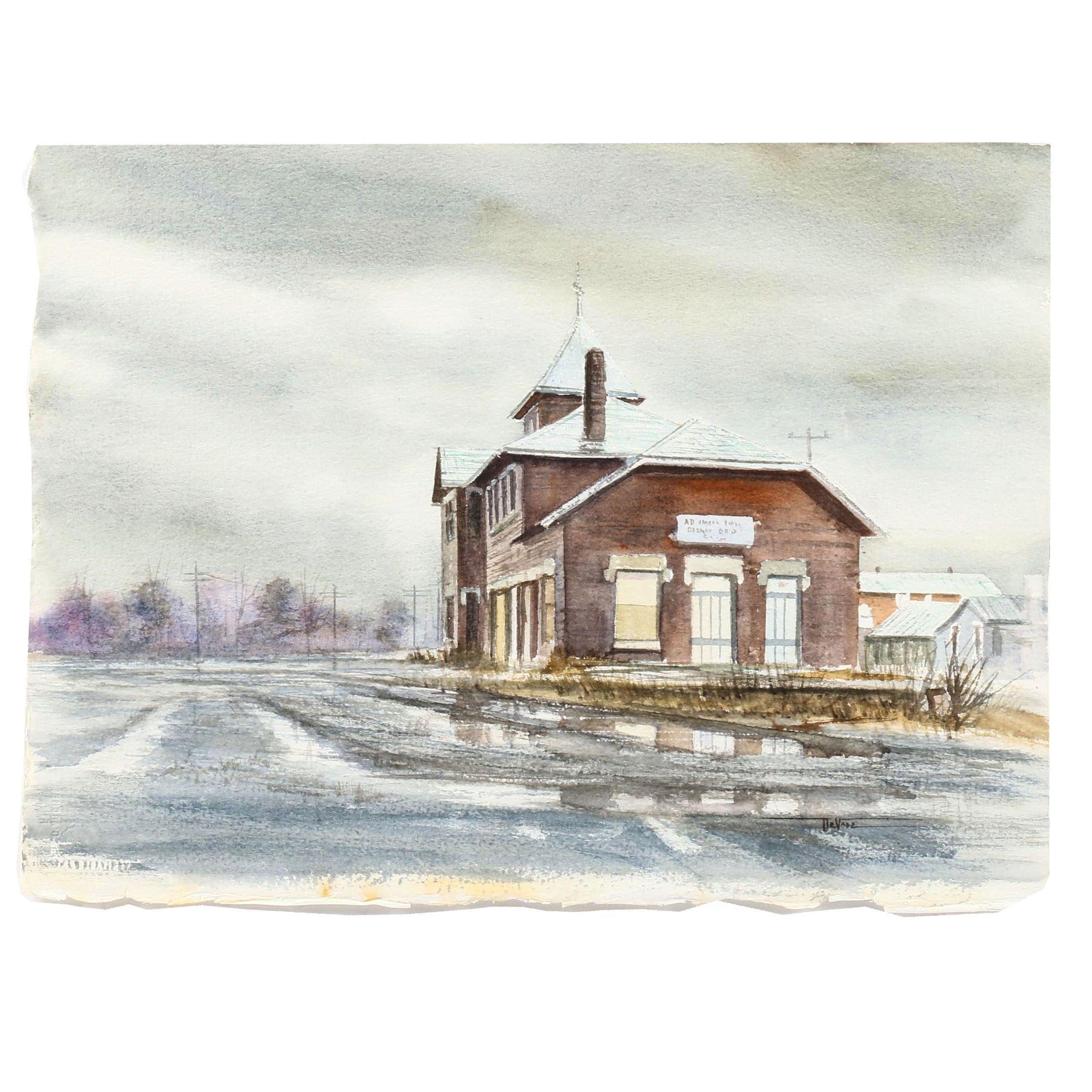 James DeVore Watercolor Painting of Church
