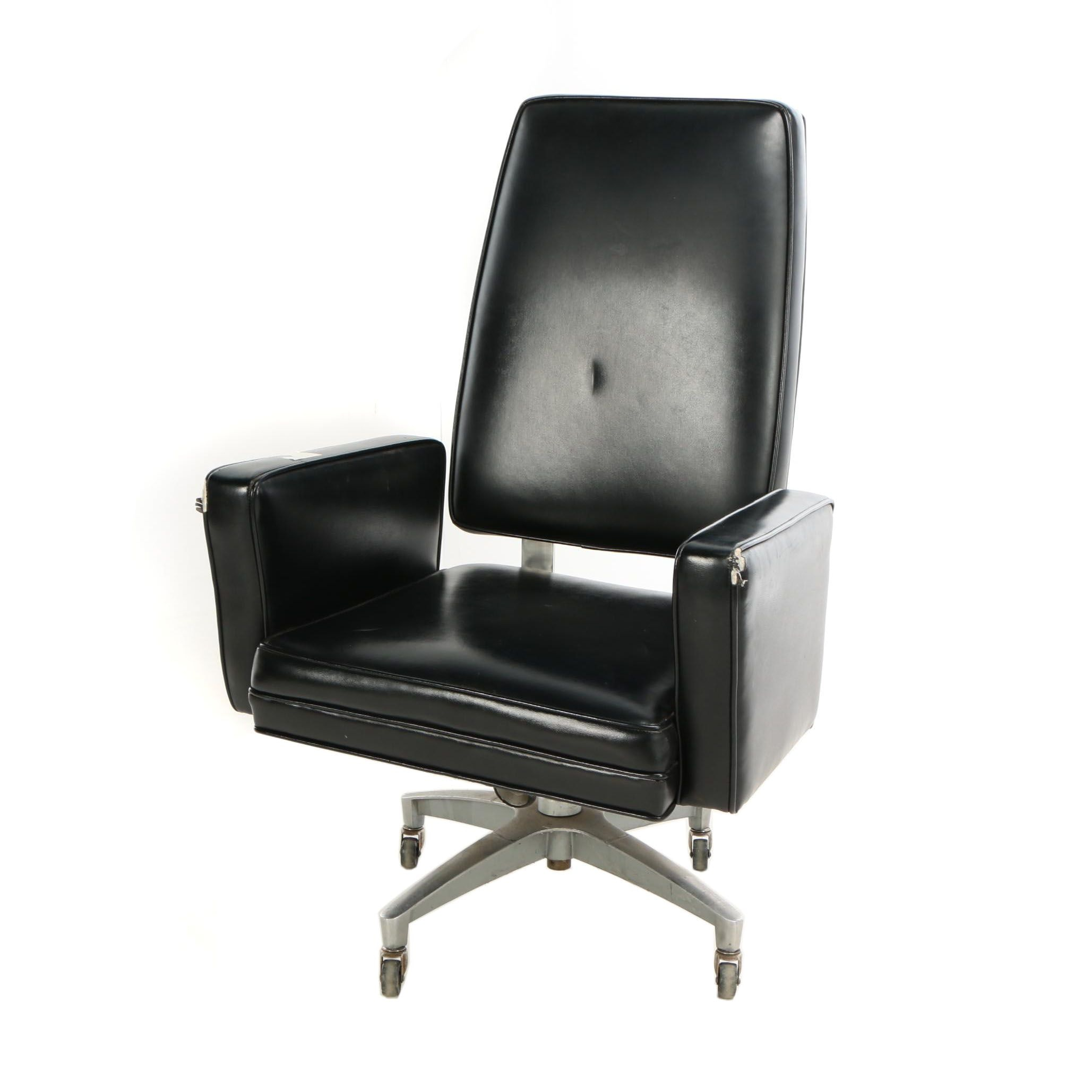 JG Furniture Co. Inc., Modernist Executive Swivel Armchair, Mid 20th Century