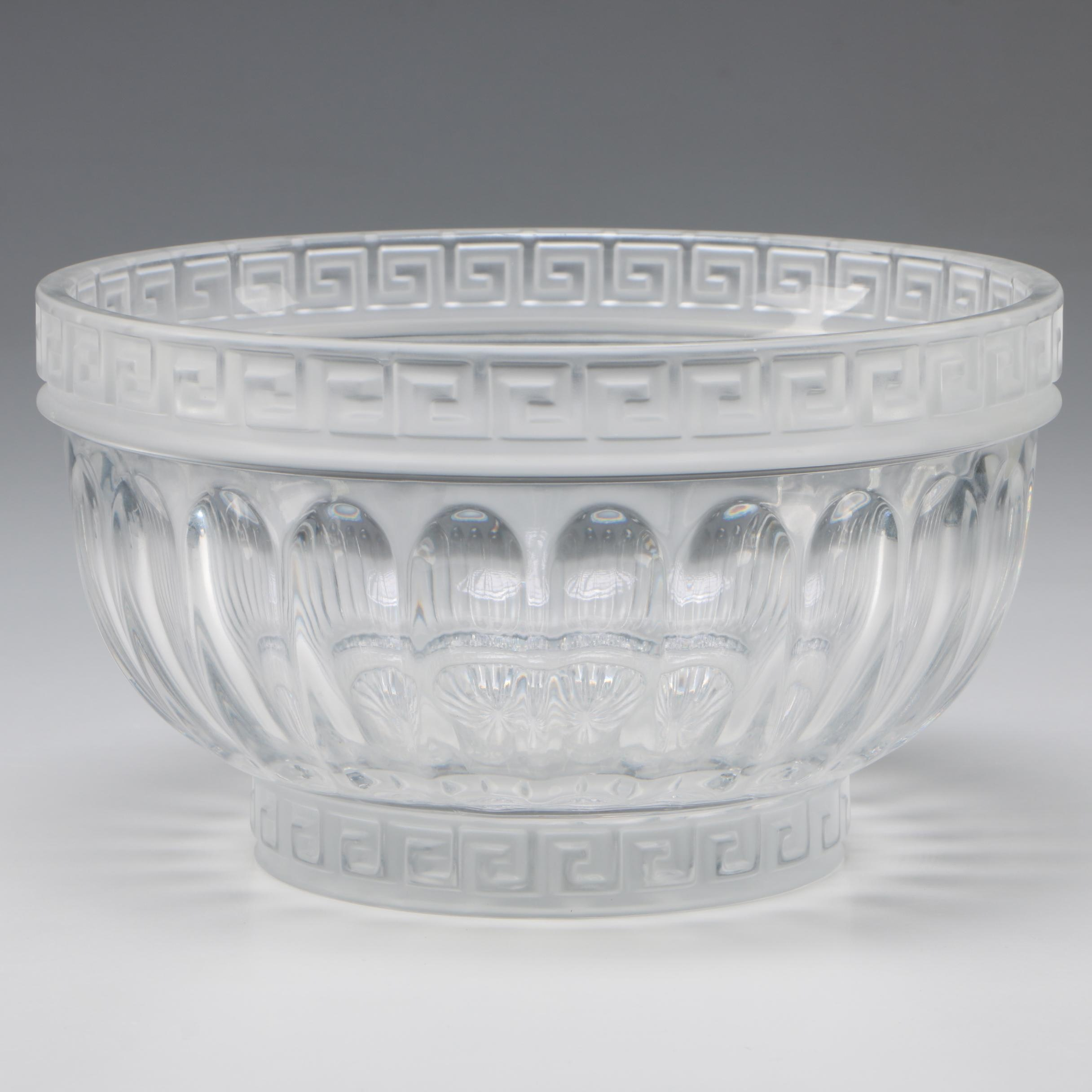 Versace Style Design Guild Crystal Centerpiece Bowl