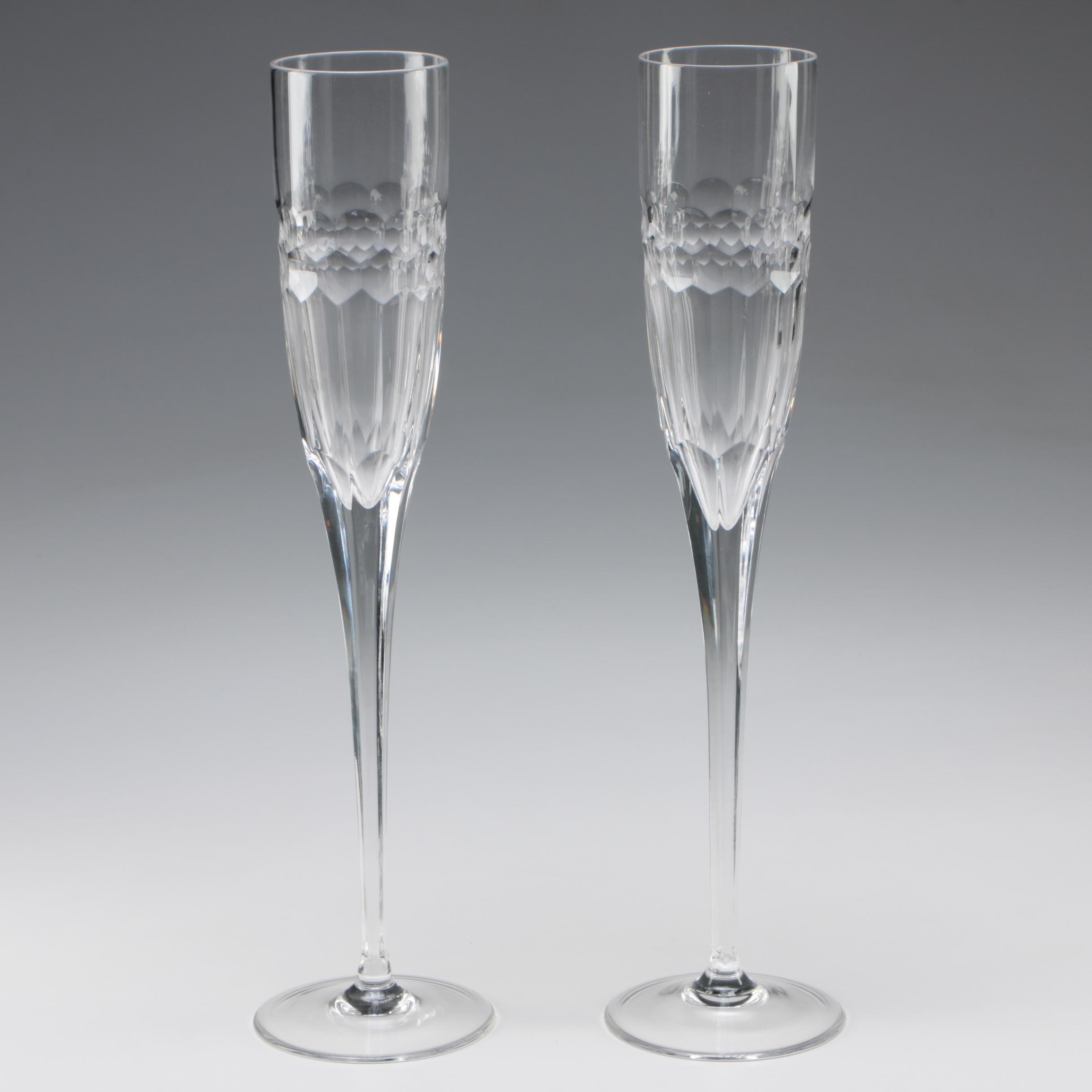 """William Yeoward """"Athena"""" Crystal Champagne Flutes"""