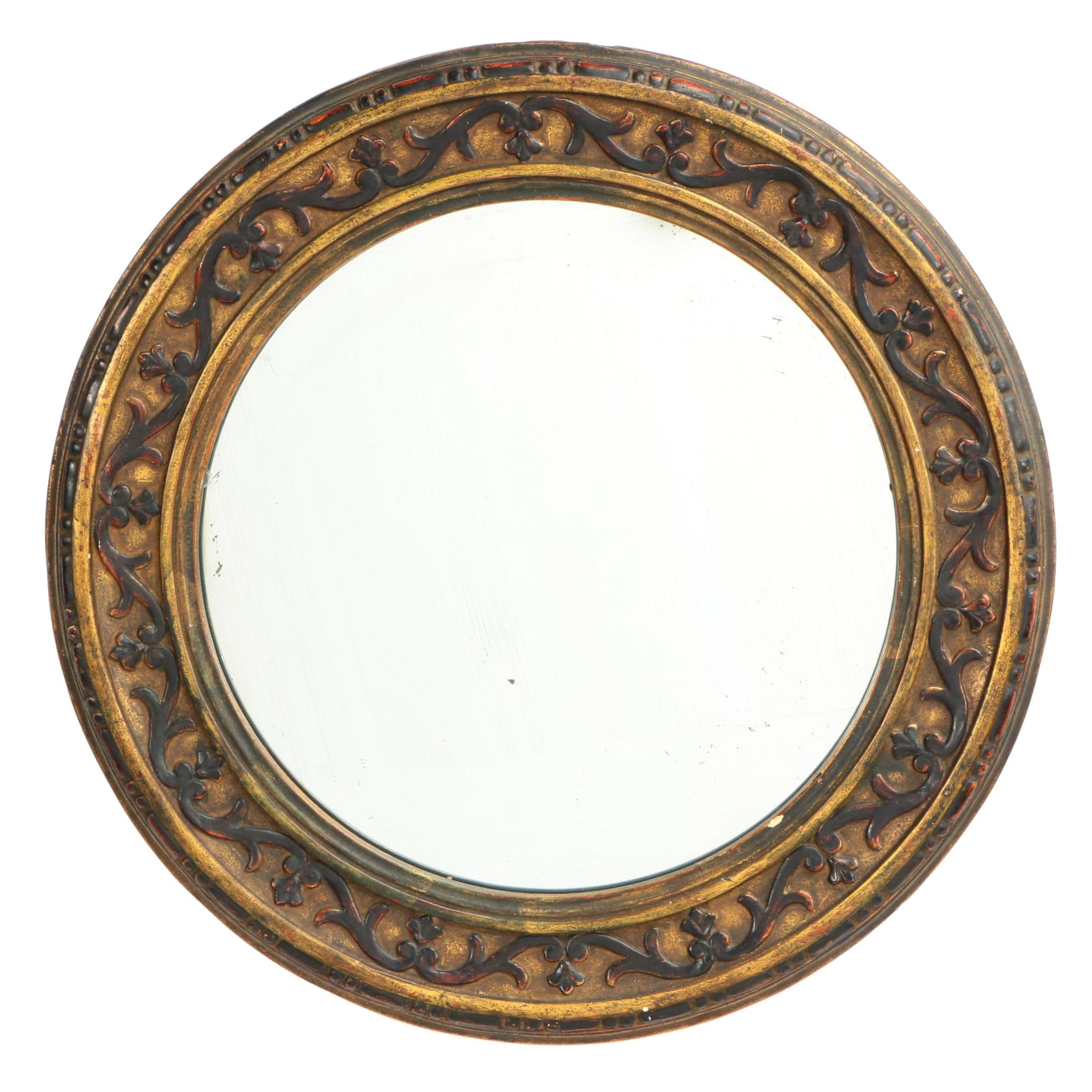 Giltwood, Composition, and Parcel-Ebonized Mirror, Late 19th/Early 20th Century