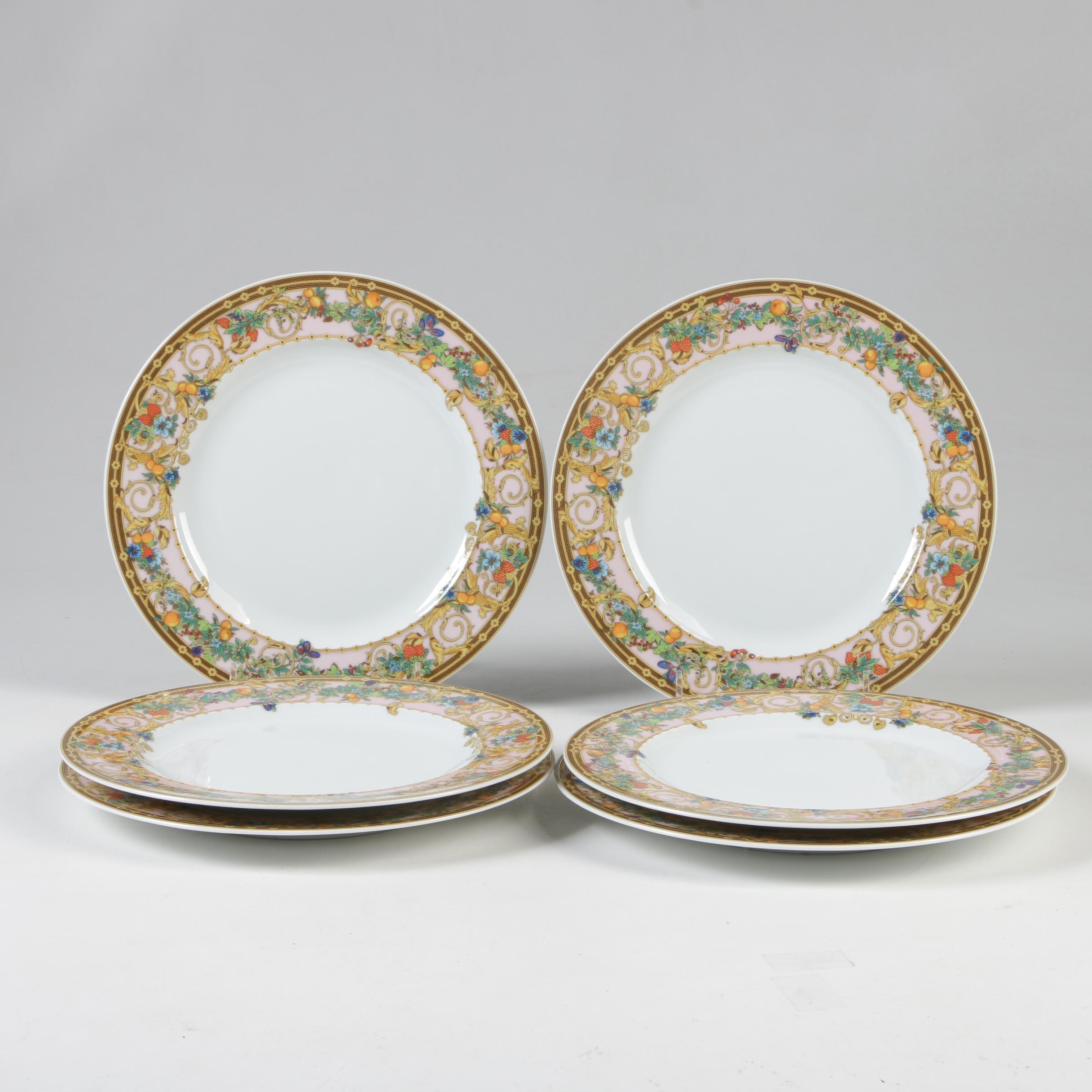 """Versace for Rosenthal """"Le Jardin de Versace"""" Porcelain Salad Plates"""