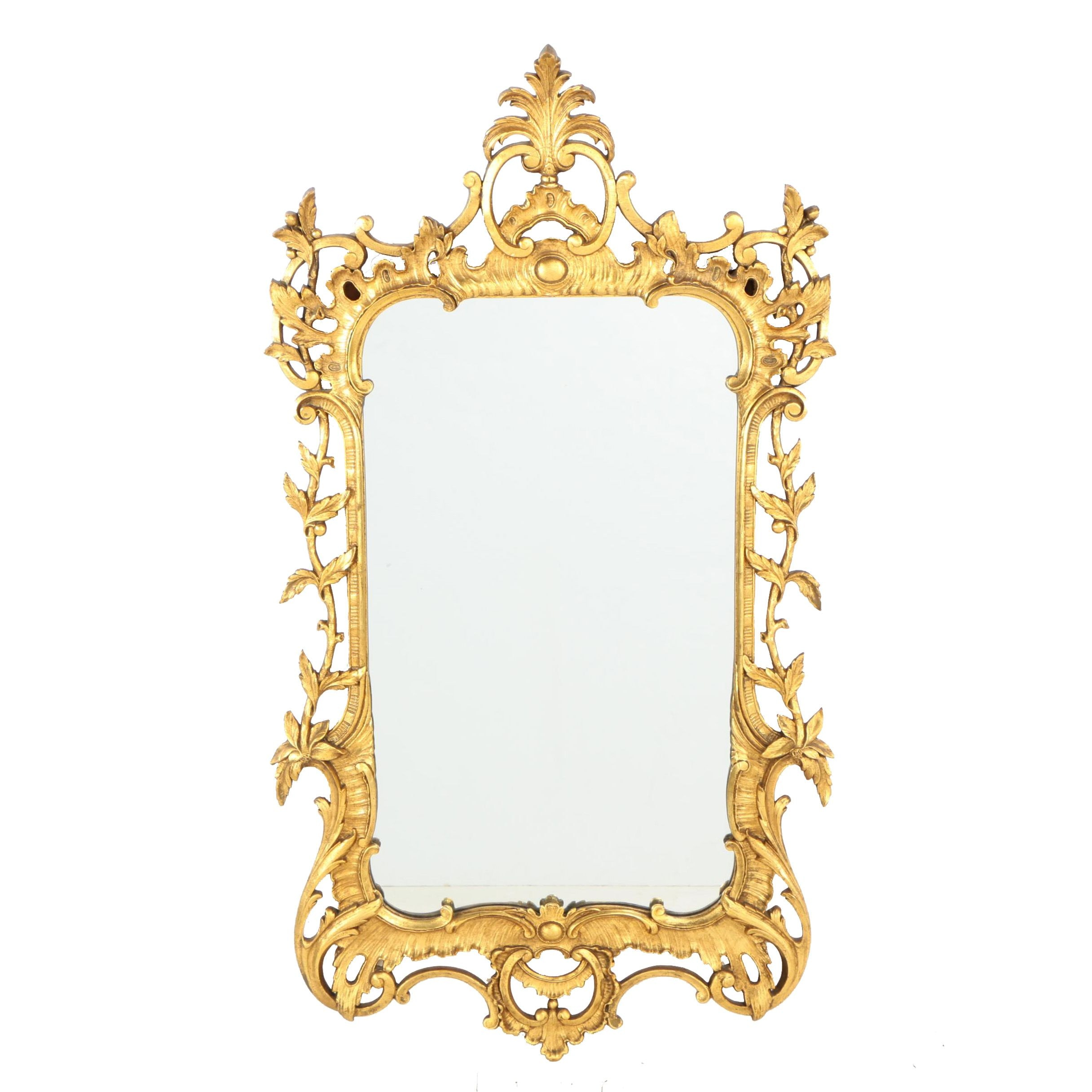 Baroque Style Carved Giltwood Mirror, 20th Century