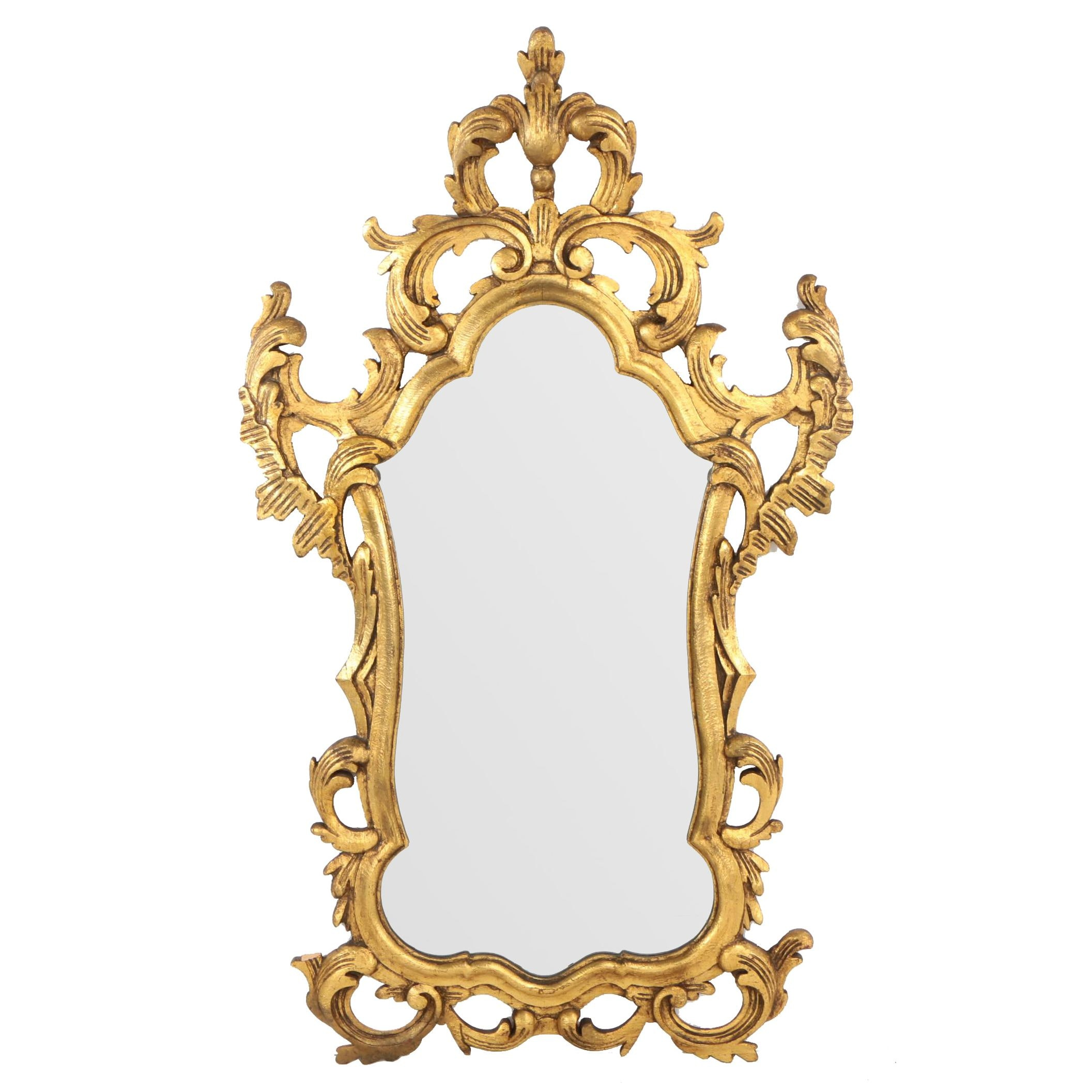 Francisco Hurtado Spanish Baroque Style Carved Giltwood Mirror, Mid 20th Century