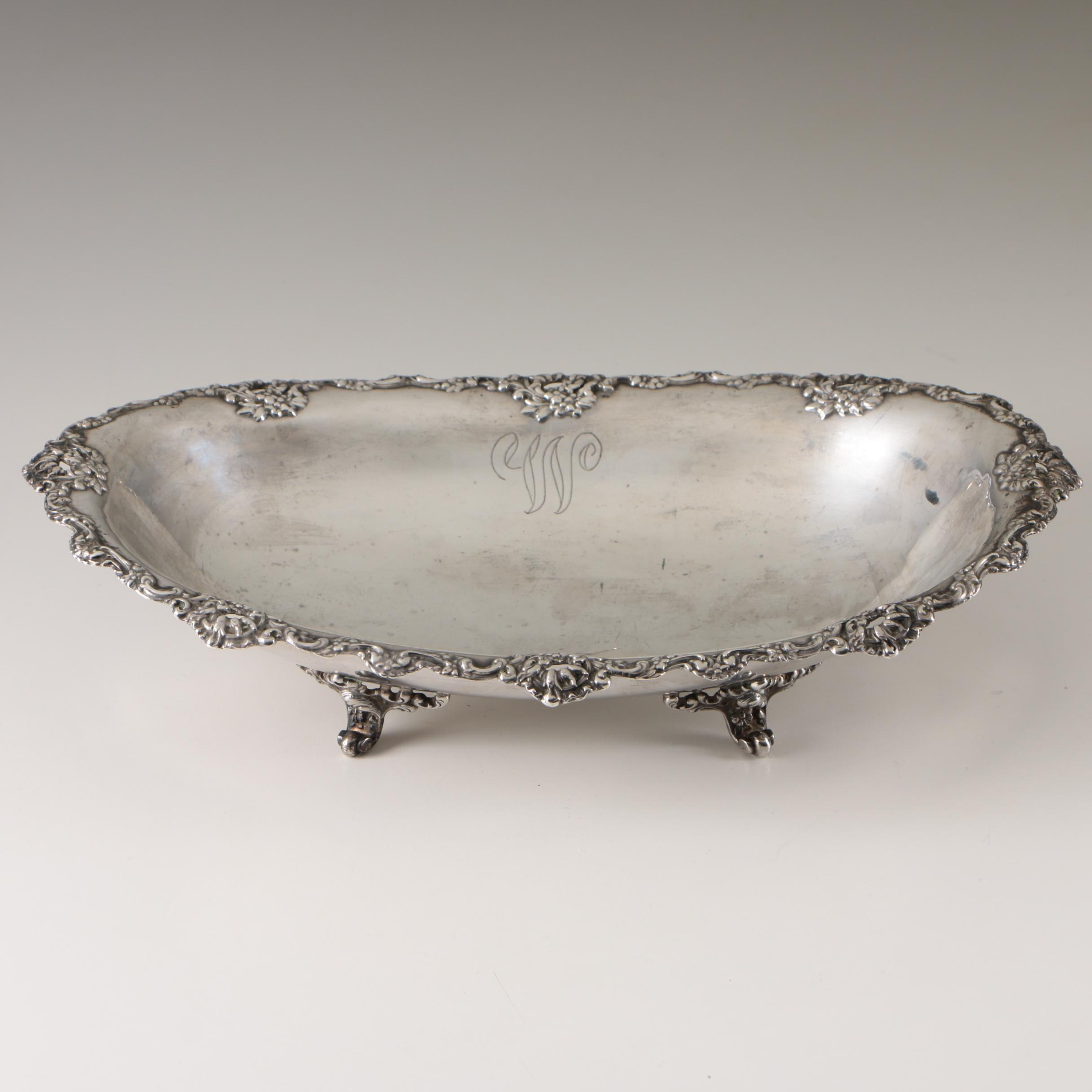 R. Wallace & Sons Sterling Silver Footed Bowl, Early 20th Century