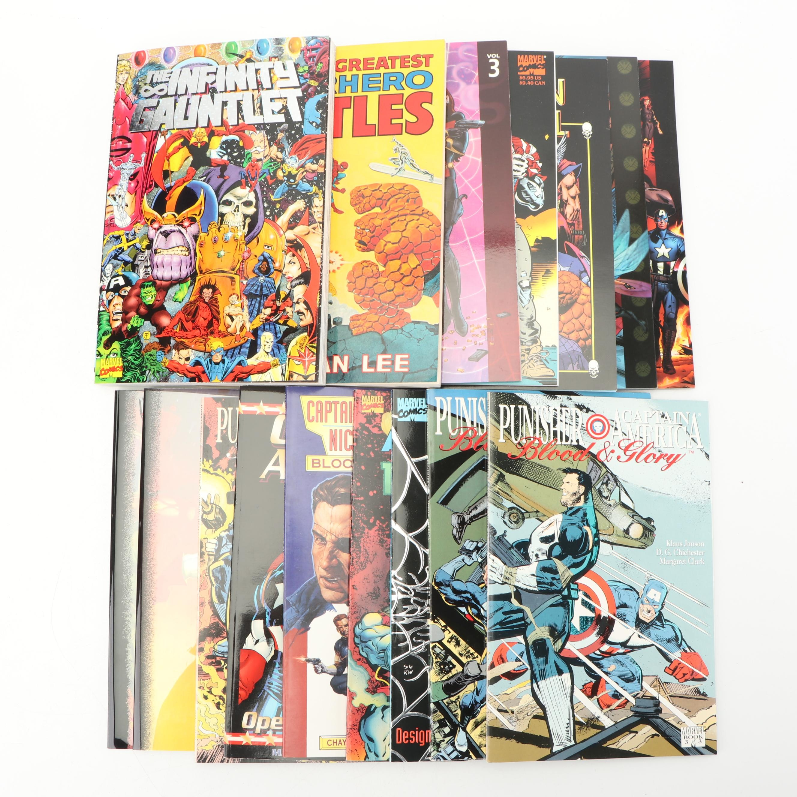 Modern and Bronze Aged Marvel Comic Graphic Novels