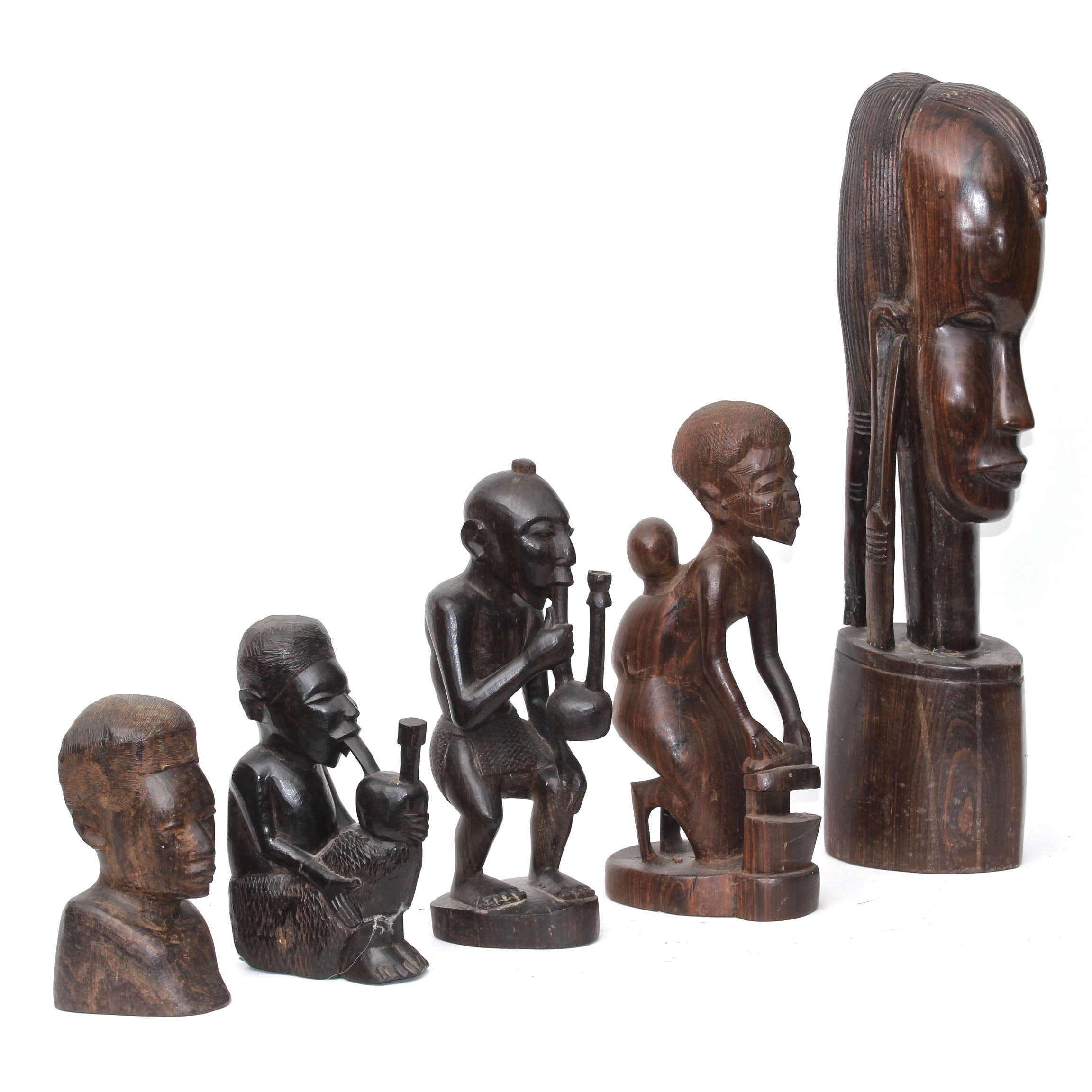 East African Carved Wood Sculptures