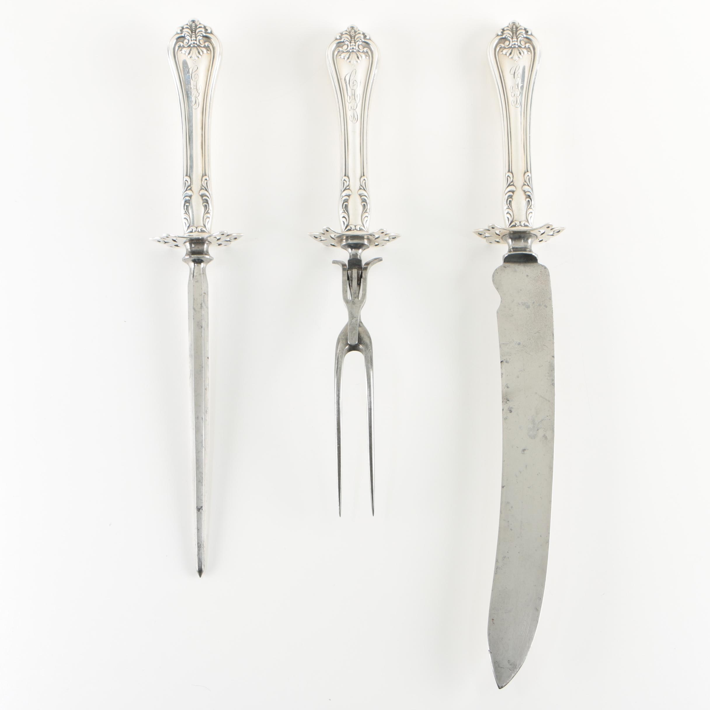 """Towle """"Richmond"""" Sterling Handled Carving Set"""