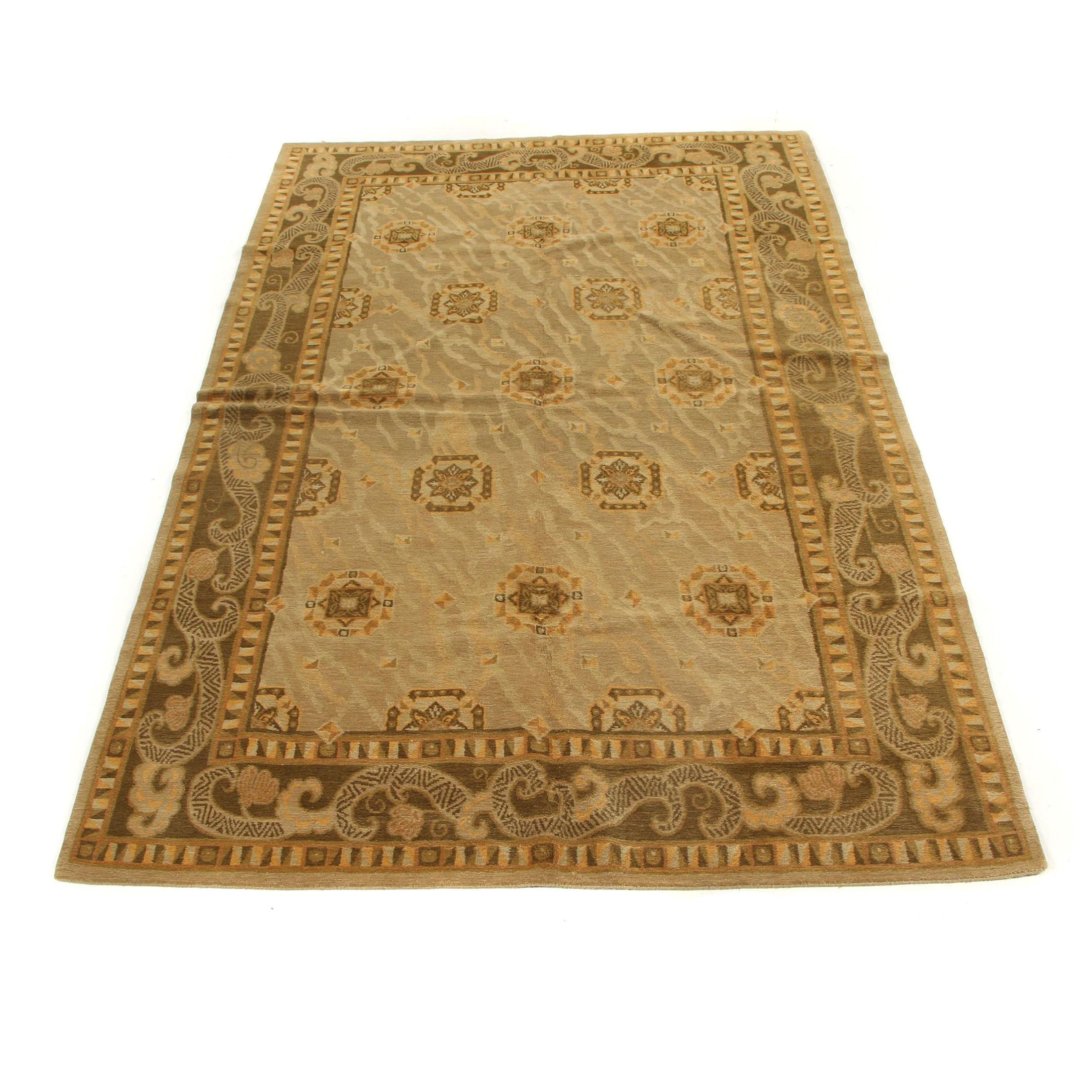 Hand-Knotted Nepalese Wool Rug