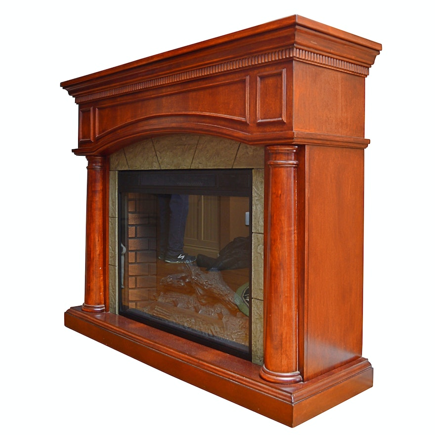 Twin Star Electric Fireplace Ebth