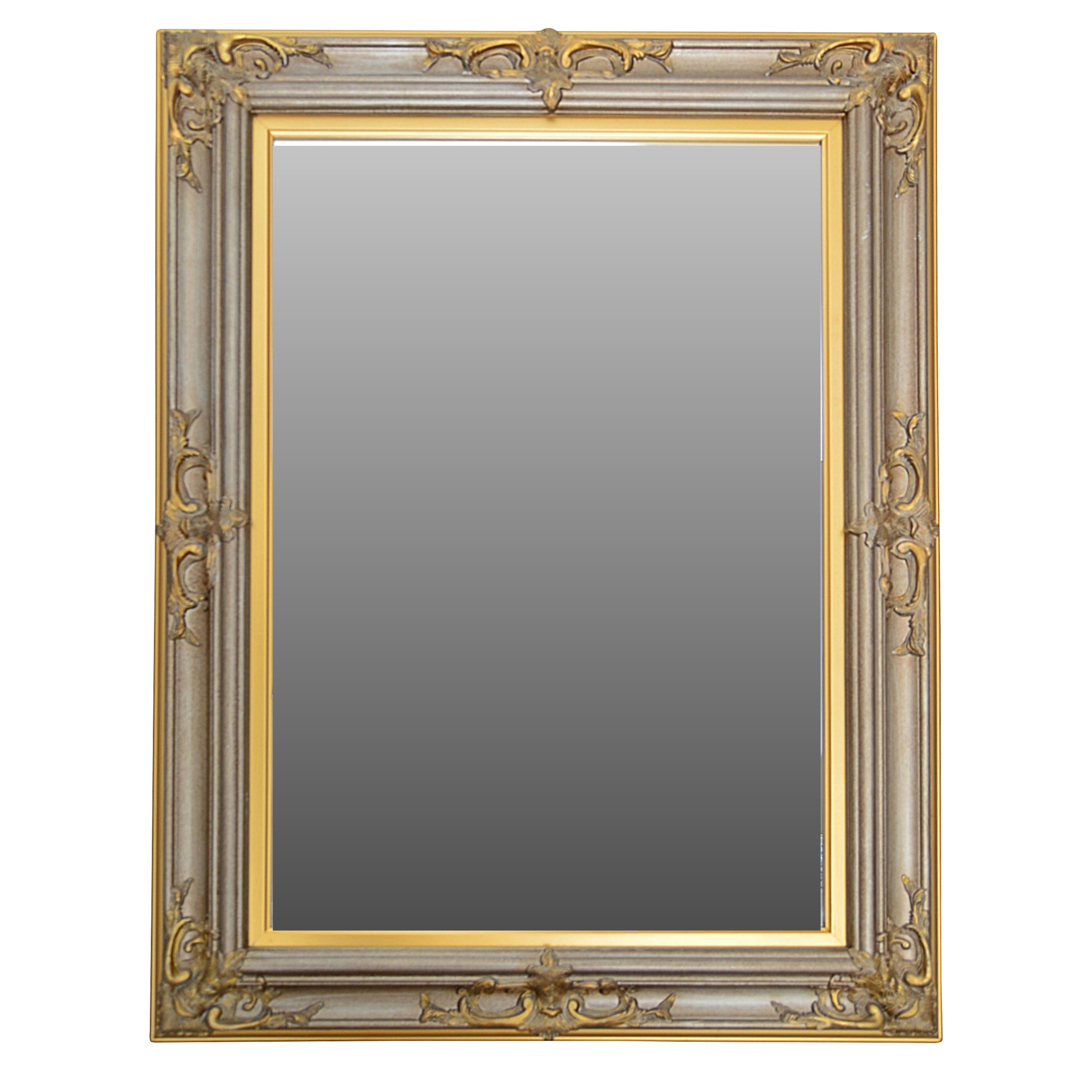 Baroque Style Beveled Wall Mirror