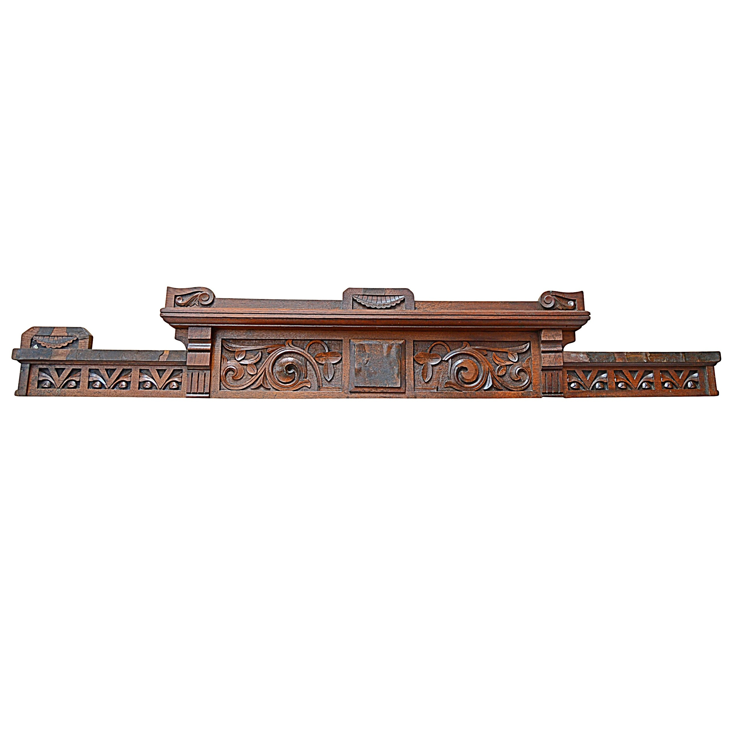 Victorian Eastlake Walnut Pediment
