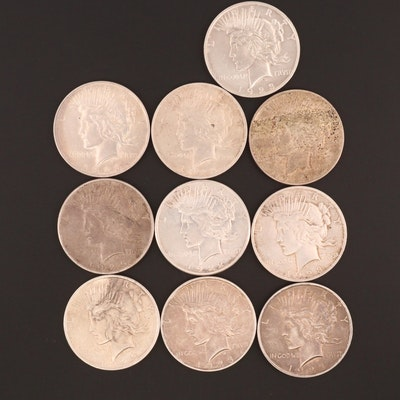 1922 Silver Peace Dollar Money Clip : EBTH