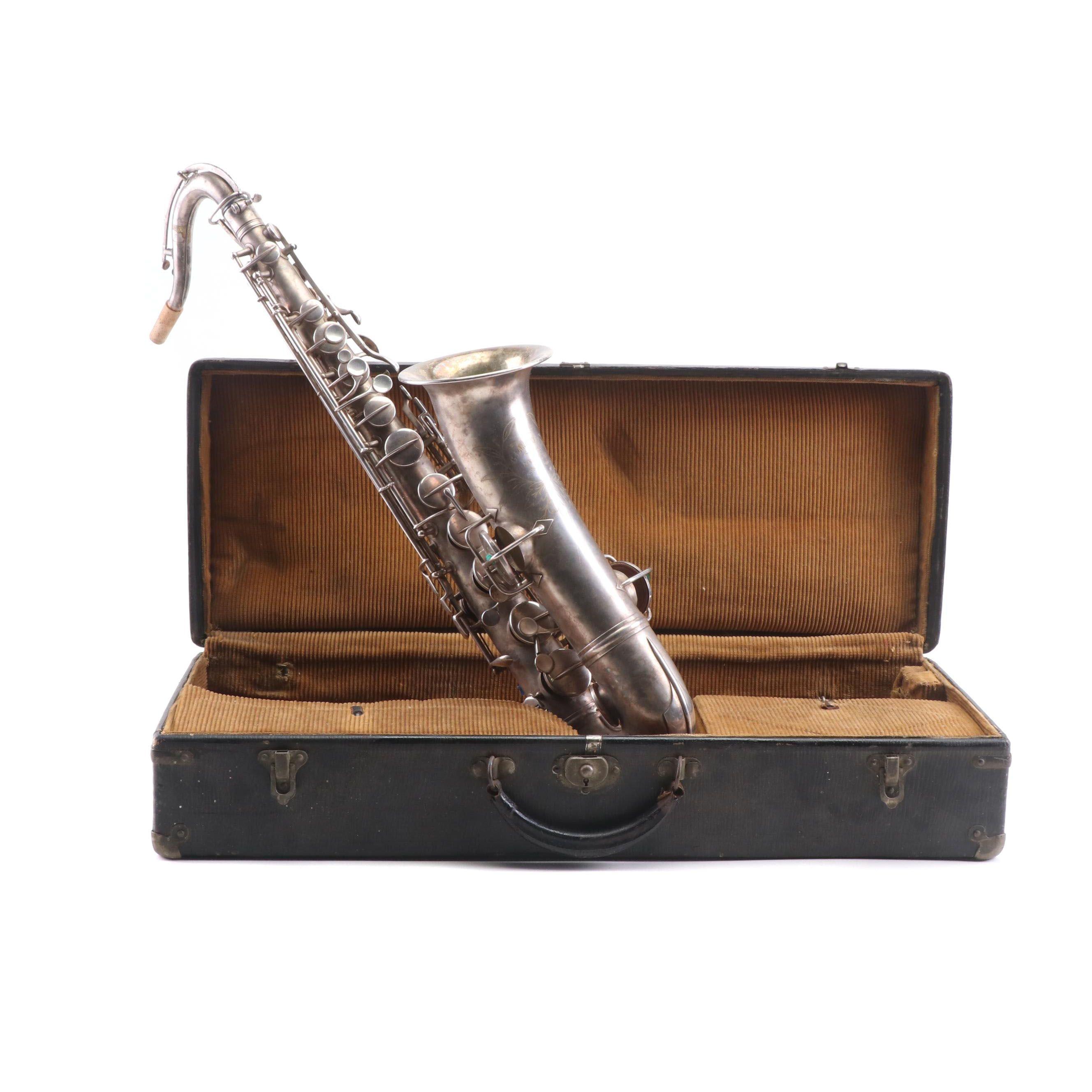 Gustave Langenus Alto Saxophone in Case, New York