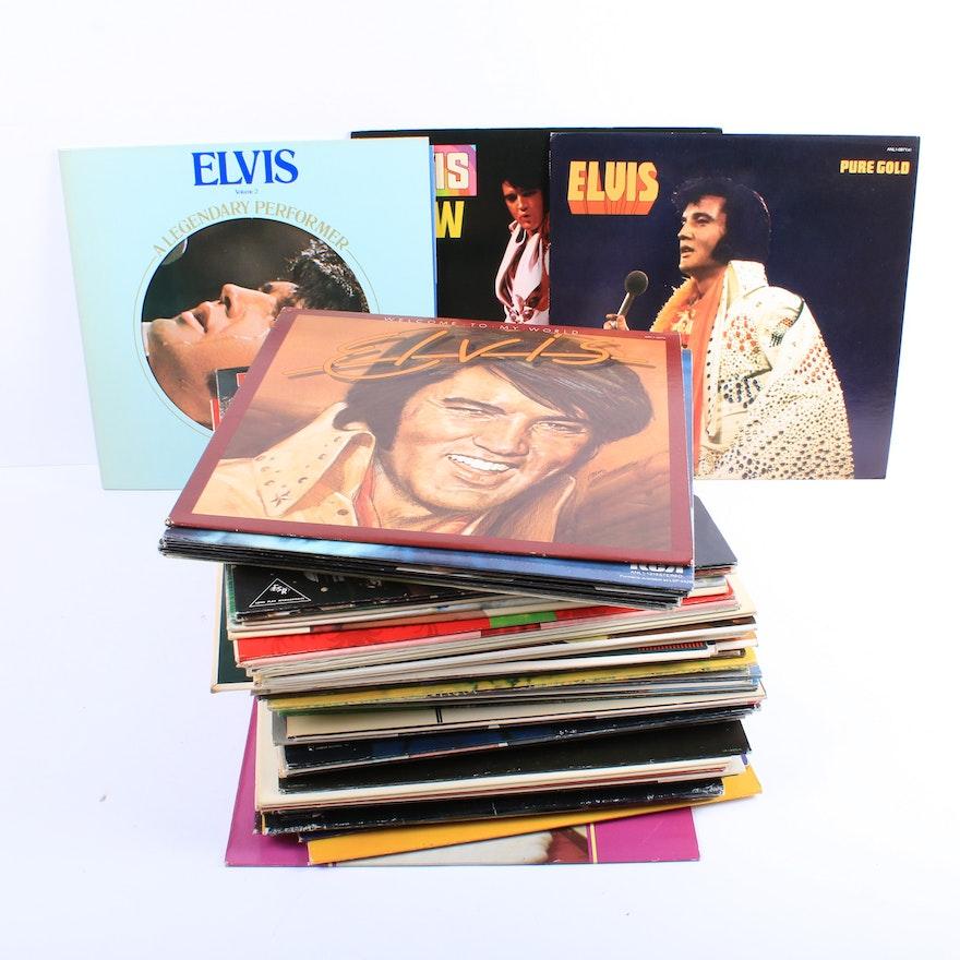 Vintage Vinyl Records Featuring Elvis