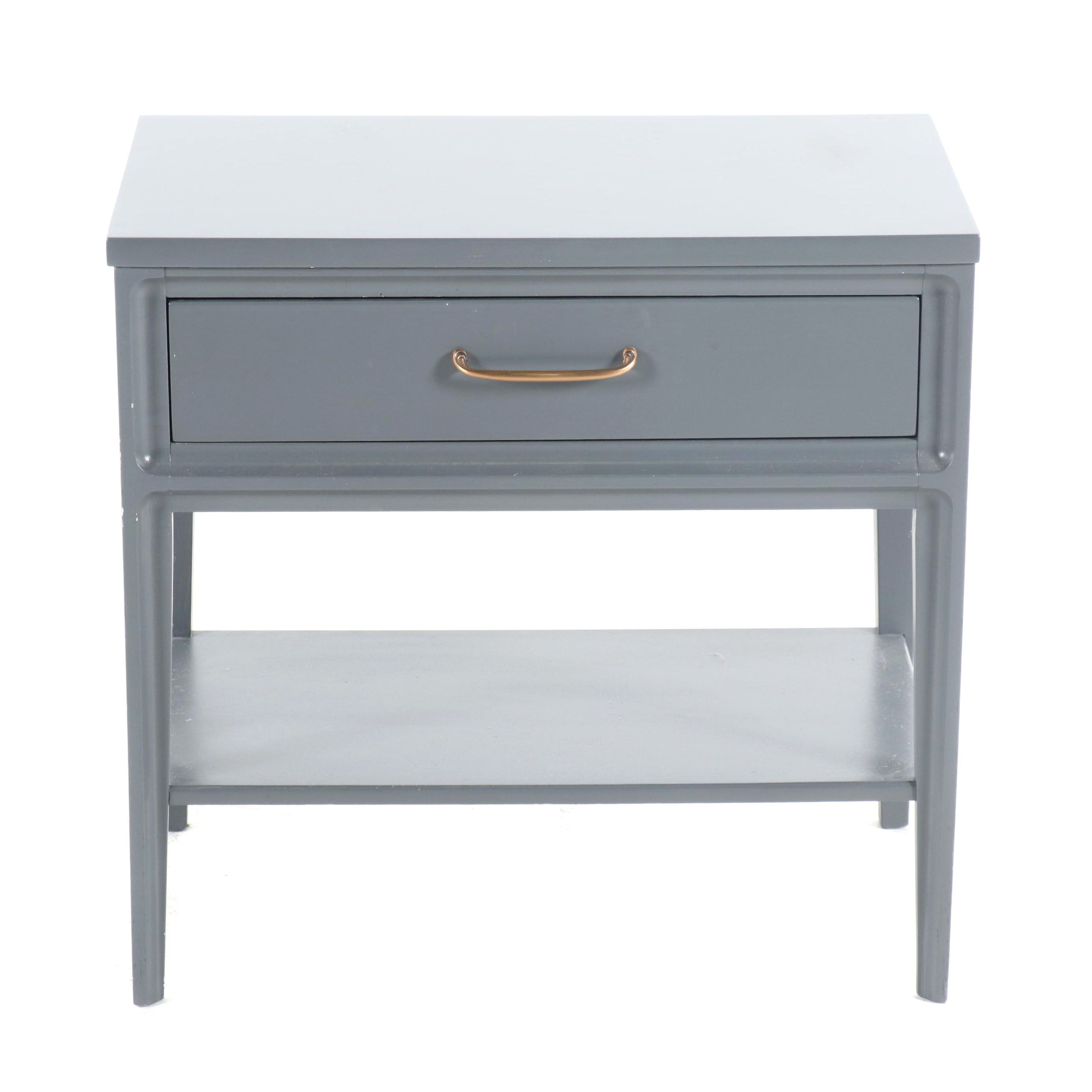 Contemporary Painted Wood Side Table
