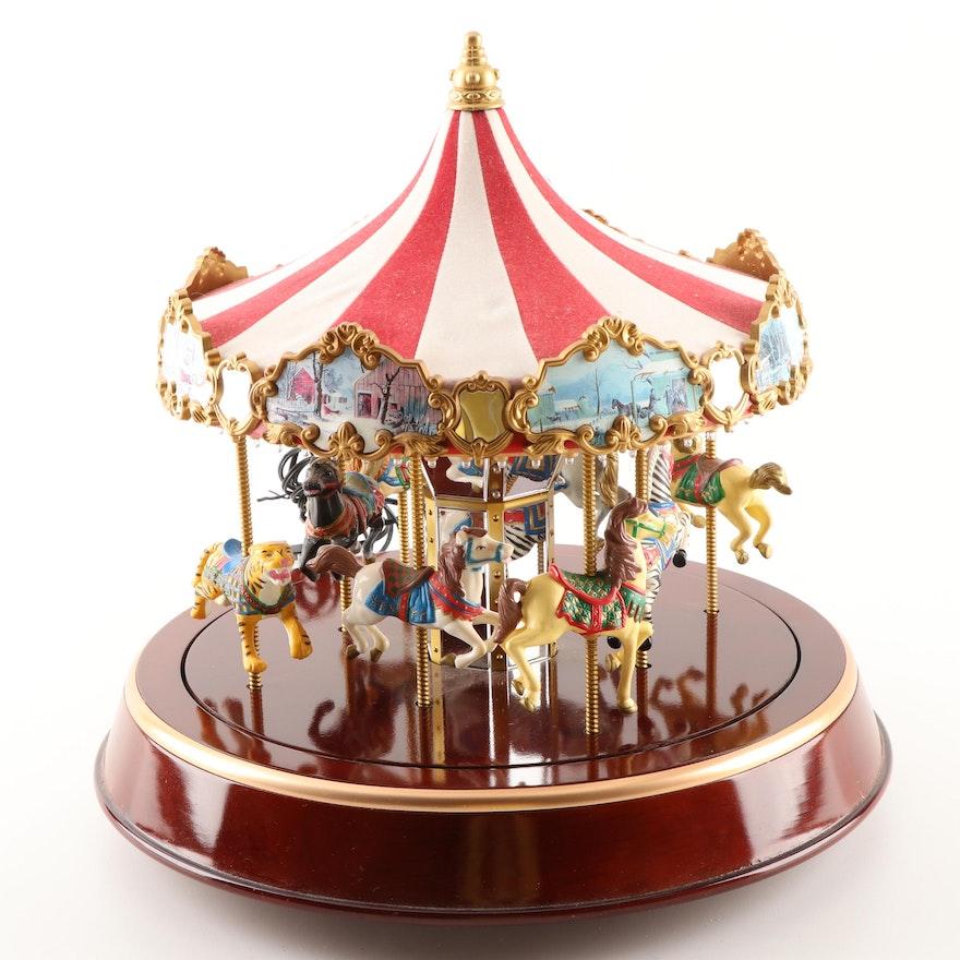 Mr Christmas Carousel.Mr Christmas Marquee Musical Carousel