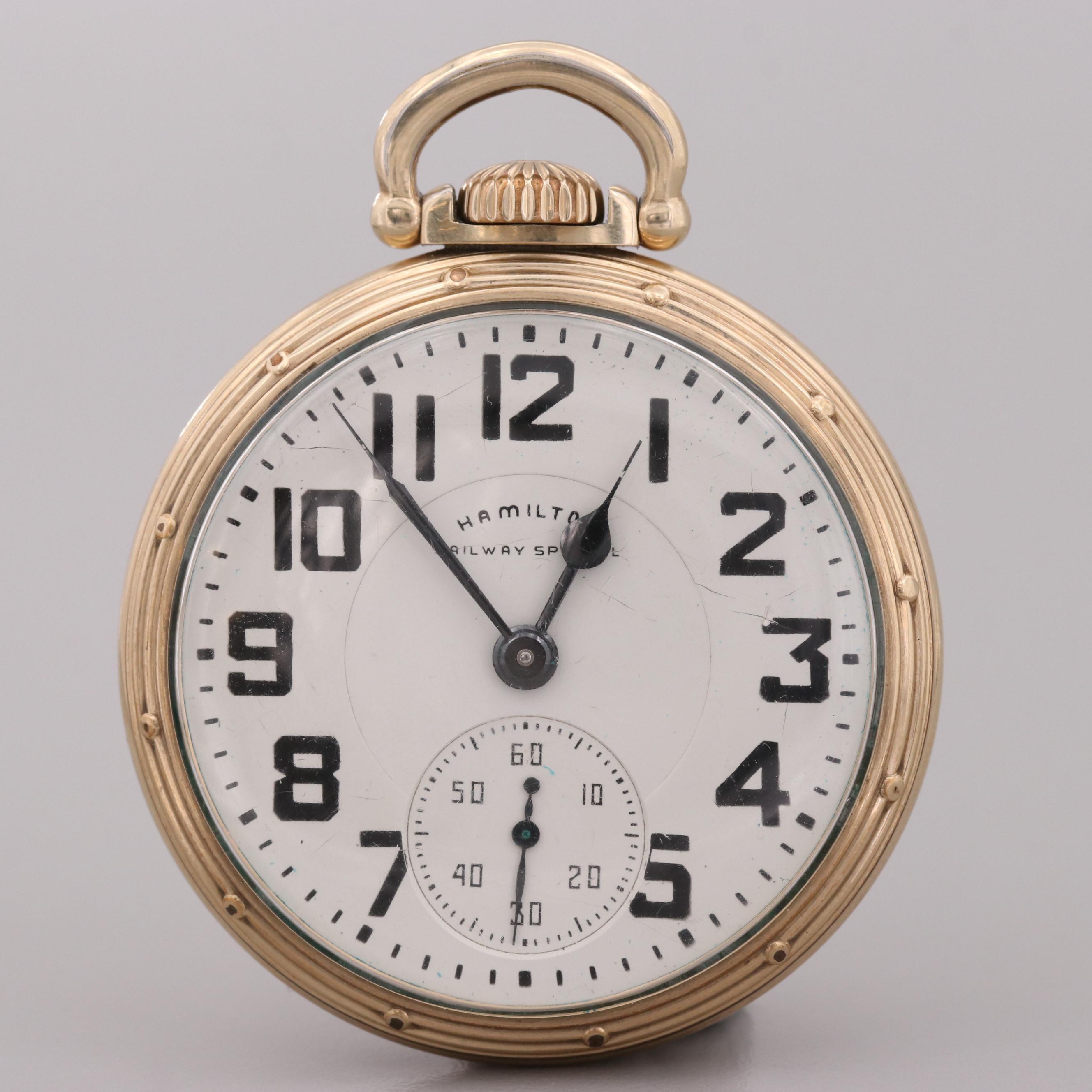 Hamilton Railway Special 10K Gold Filled Pocket Watch, 1952