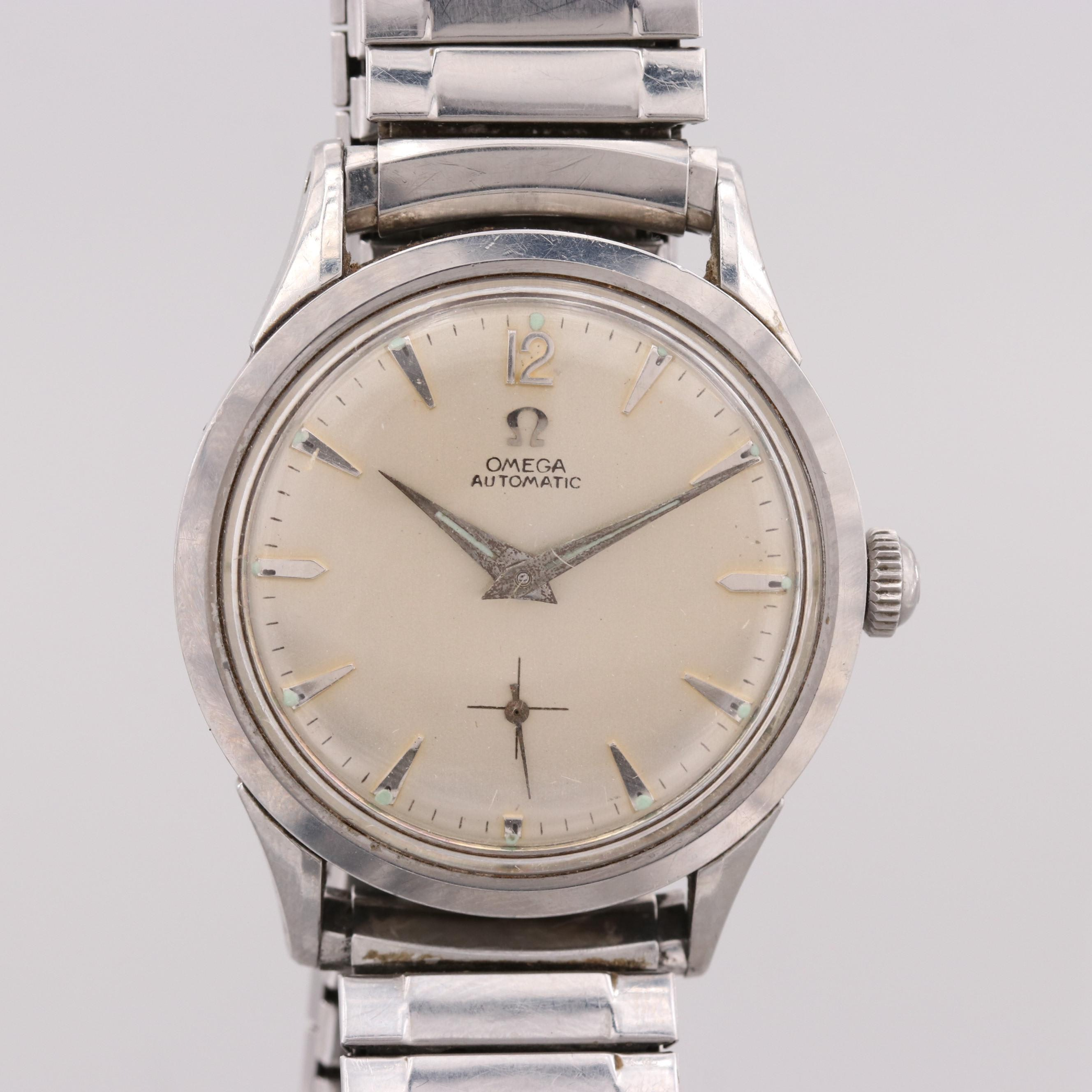Omega Automatic Stainless Steel Wristwatch