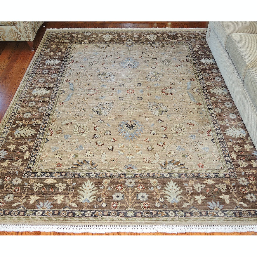 Hand-Knotted Jaipur Wool Room Sized Rug