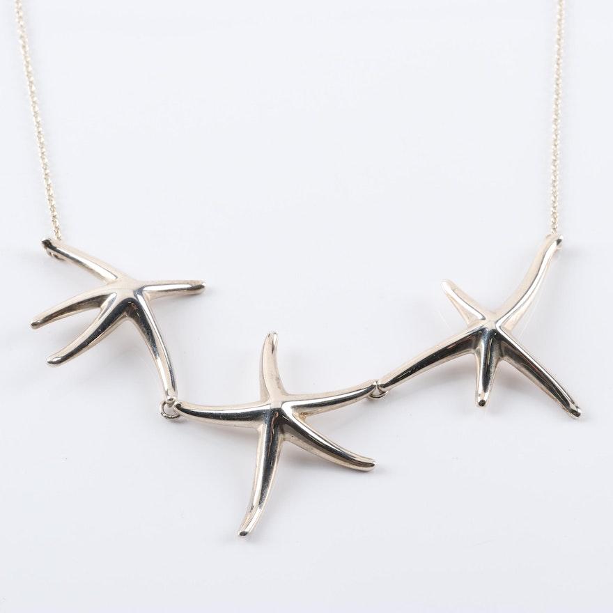 7d3f66c2cbf3b Elsa Peretti for Tiffany & Co. Sterling Silver Starfish Necklace : EBTH