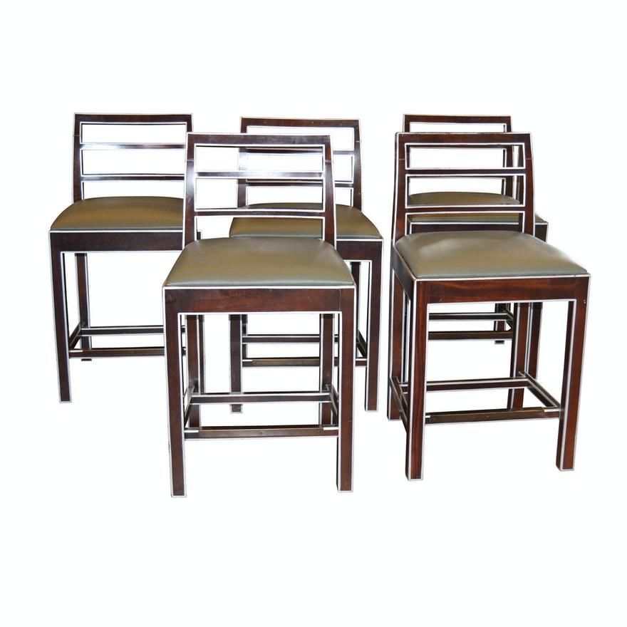 Awe Inspiring Hickory Chair Co Ladder Back Counter Height Stools Set Of Five Contemporary Alphanode Cool Chair Designs And Ideas Alphanodeonline