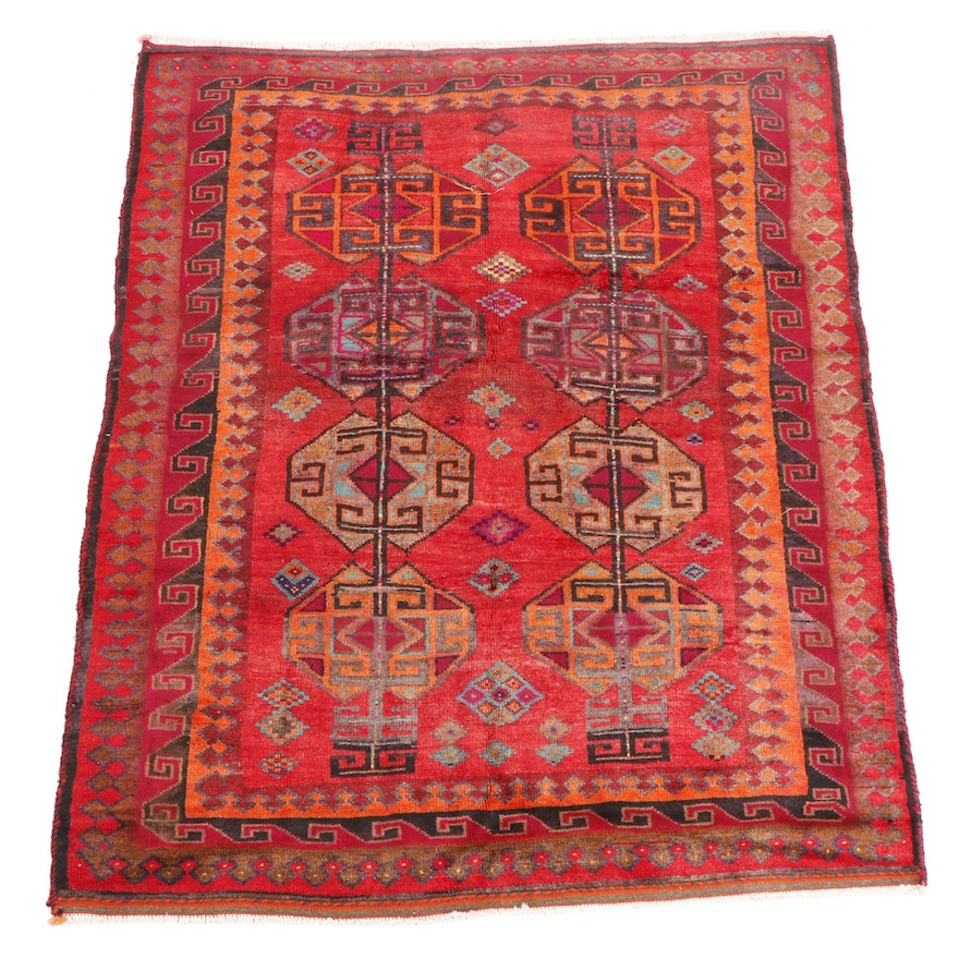 Hand-Knotted Shiraz Wool Area Rug