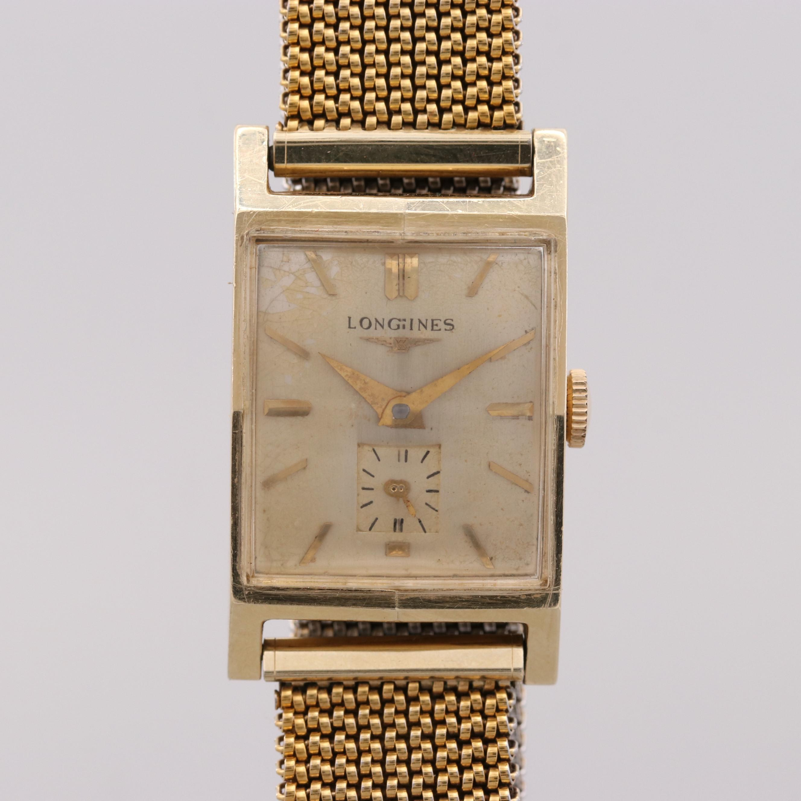 Vintage Longines 14K Yellow Gold Stem Wind Wristwatch