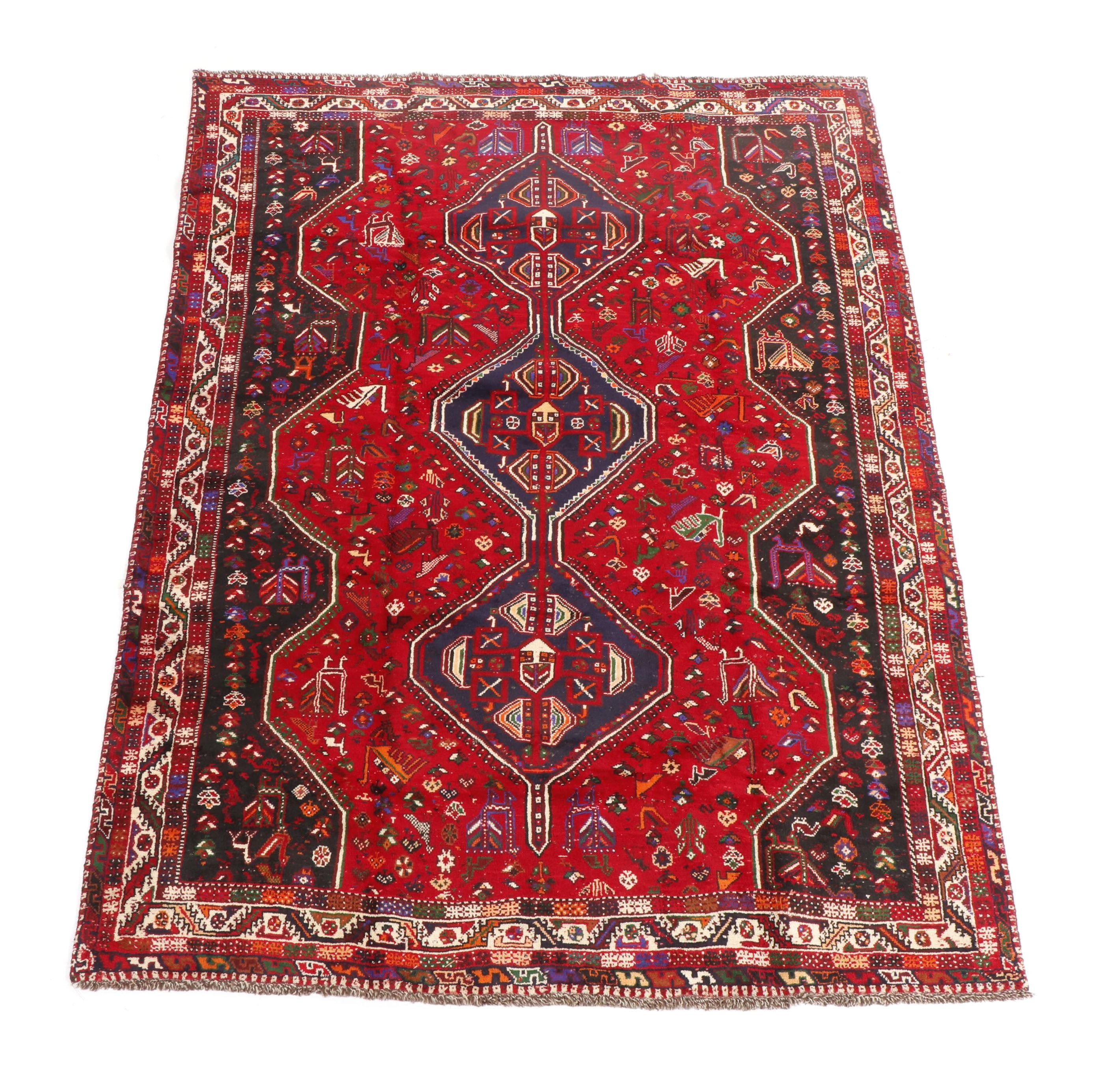 Hand-Knotted Shirvan Wool Area Rug