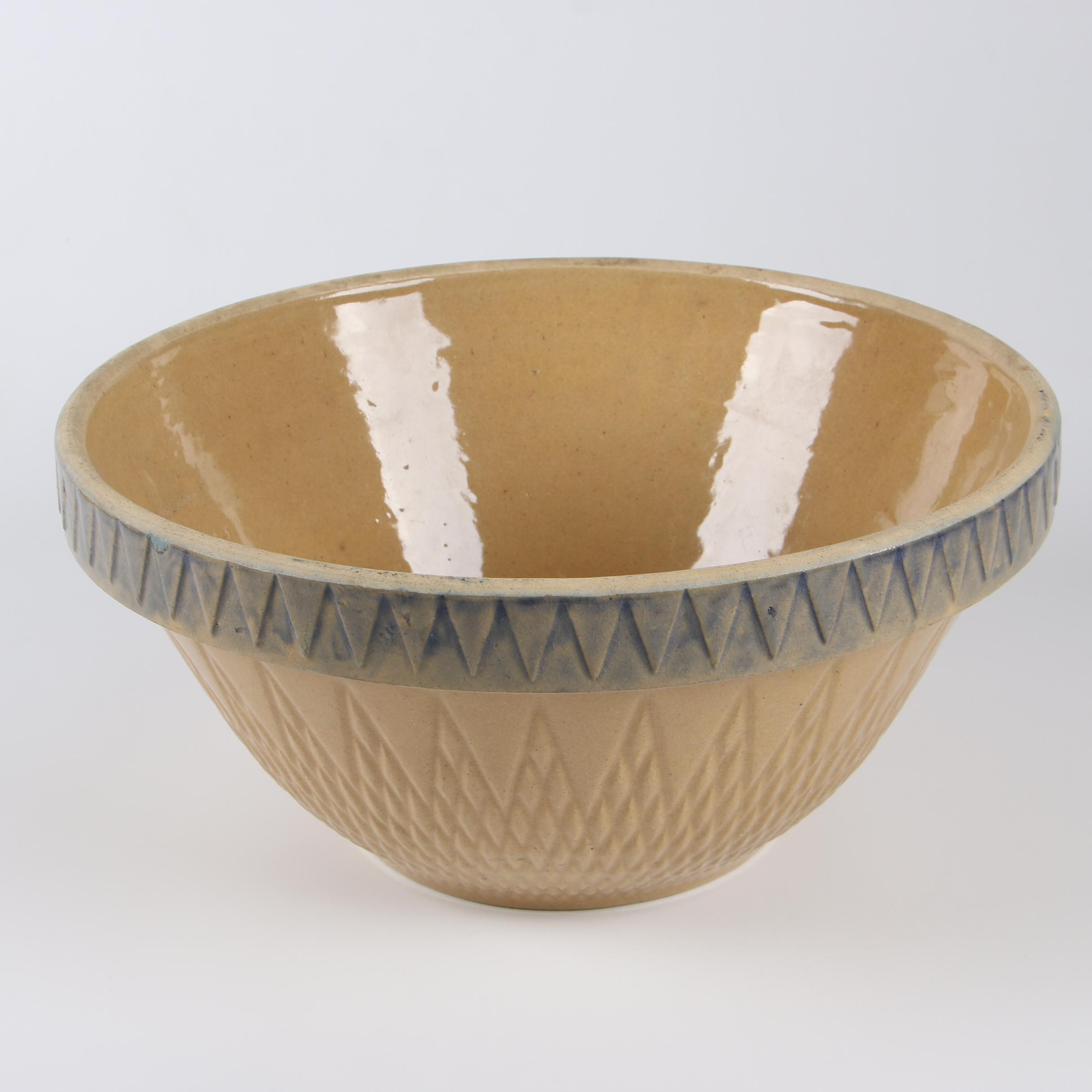 Robinson Ransbottom Stoneware Mixing Bowl, Mid-Century