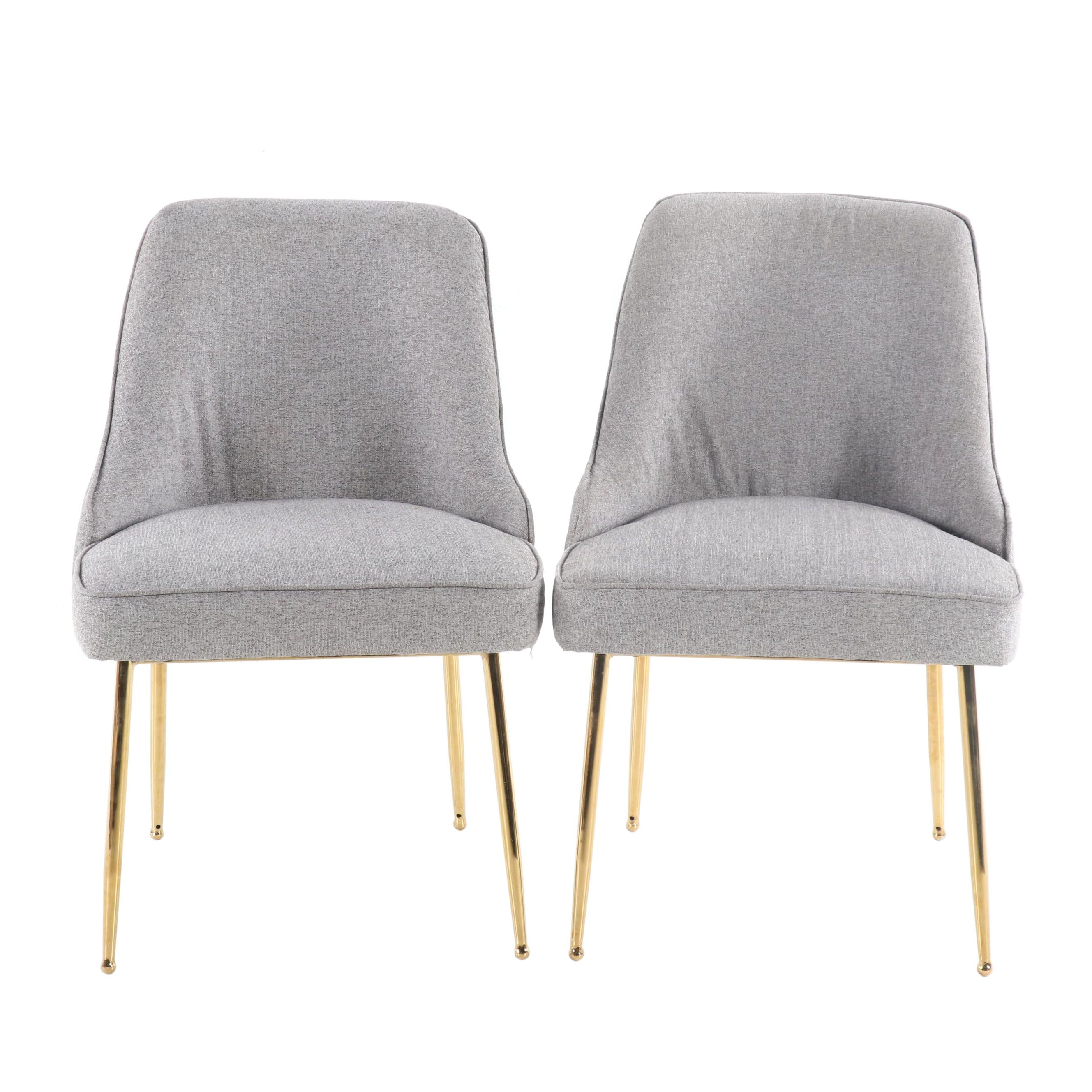 Mid Century Modern Upholstered Side Chairs