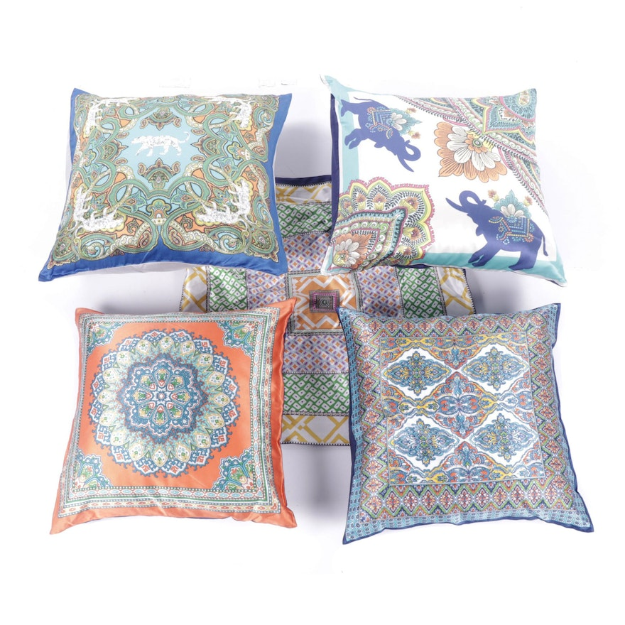 Pottery Barn Silk Blend Square Throw Pillow Cases And Pillows