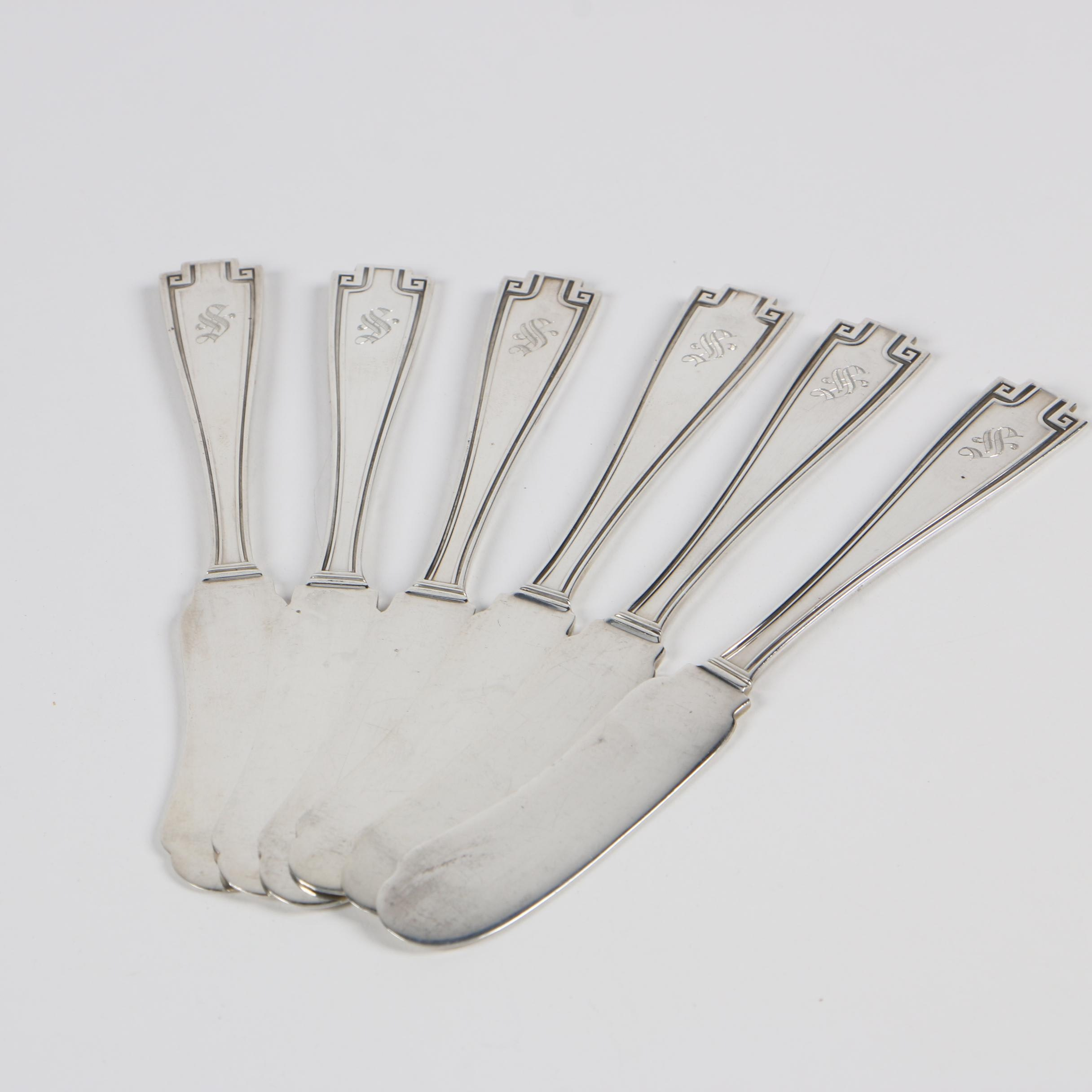 "Gorham ""Etruscan"" Sterling Silver Butter Spreaders, Early 20th Century"