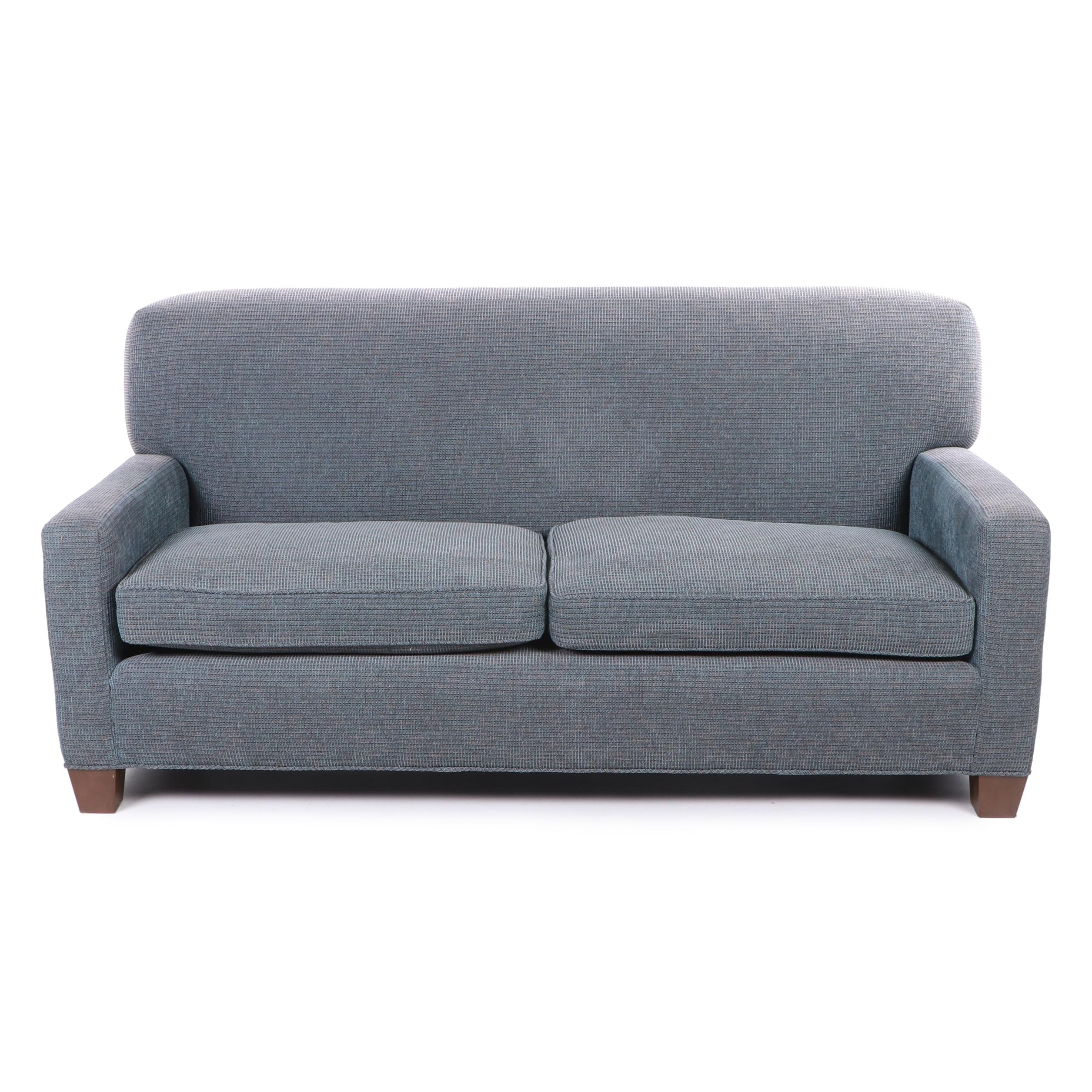 Track Arm Tight Back Upholstered Sofa, Contemporary