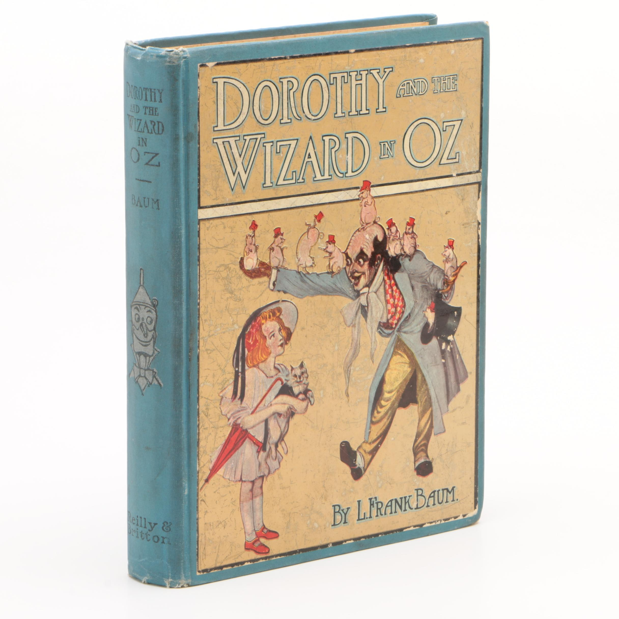 """1911 Second Printing """"Dorothy and the Wizard of Oz"""" by L. Frank Baum"""
