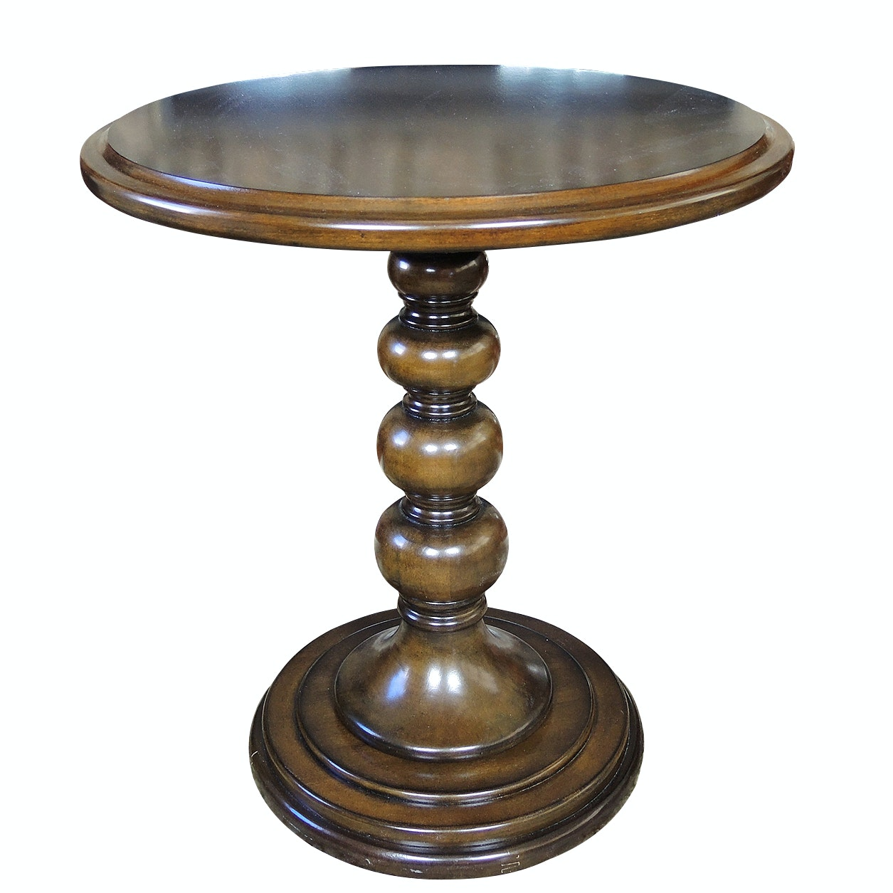 Hammary Round Top Pedestal Side Table
