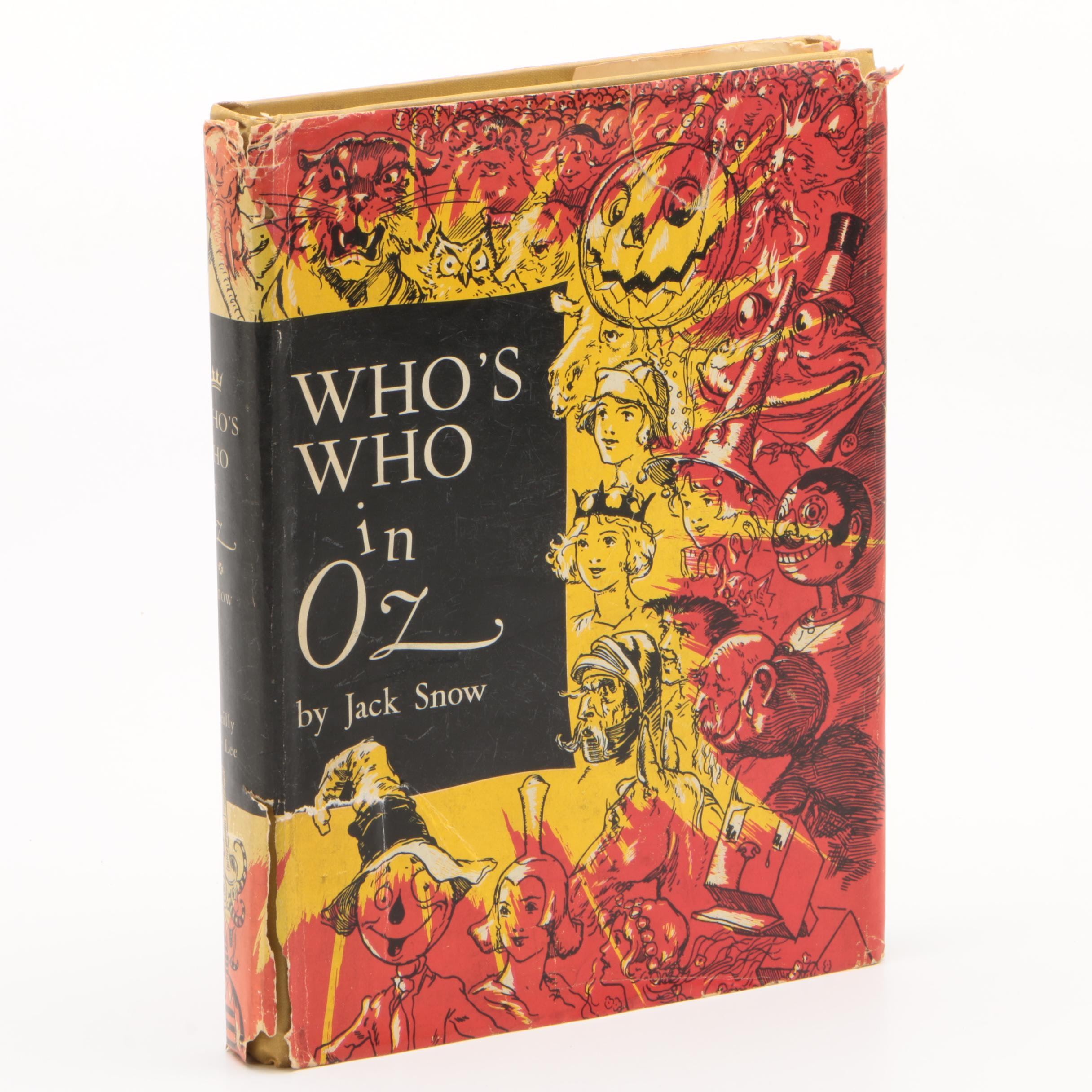 """1954 First Printing """"Who's Who in Oz"""" by Jack Snow"""