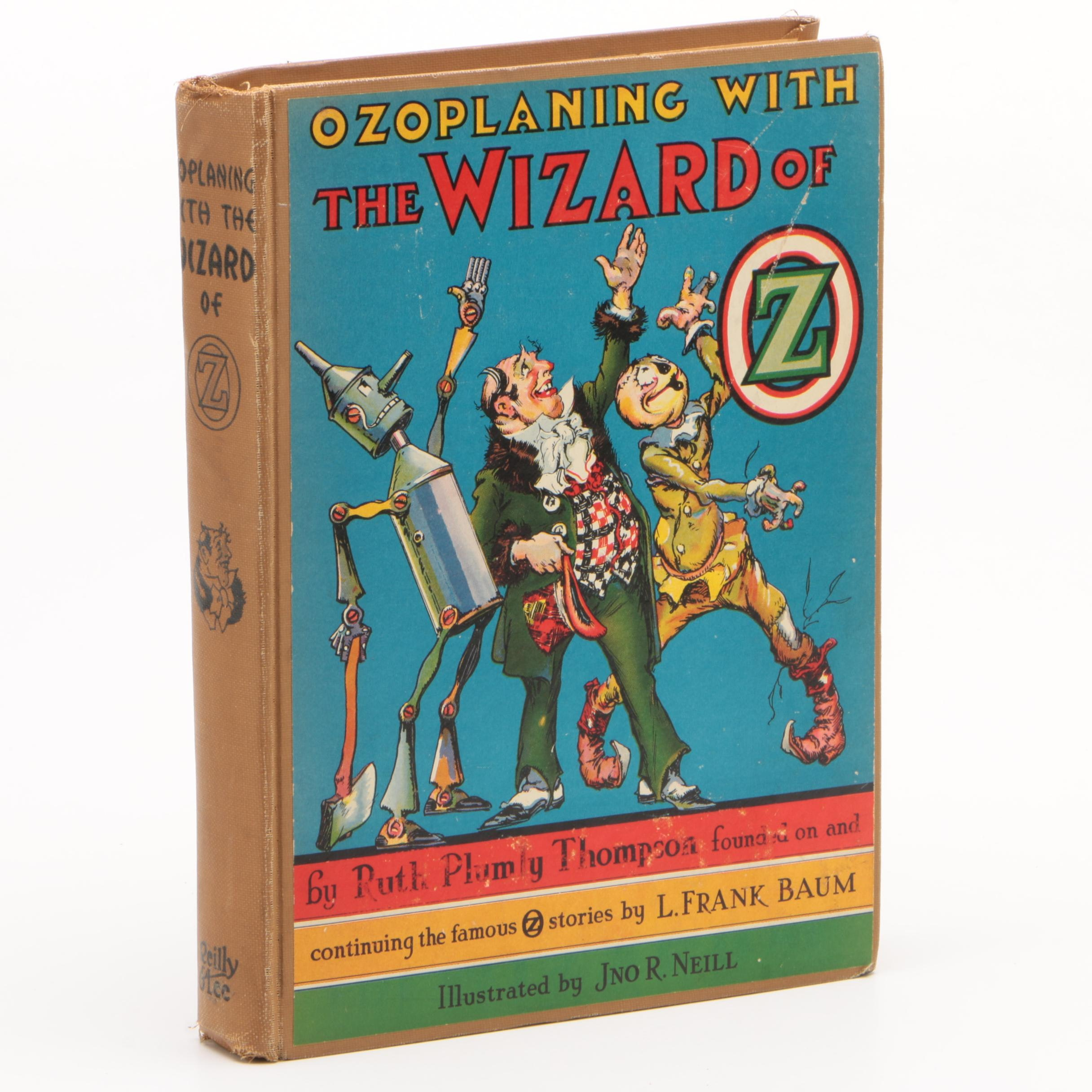 """1939 First Printing """"Ozoplaning with the Wizard of Oz"""" by Ruth Plumly Thompson"""
