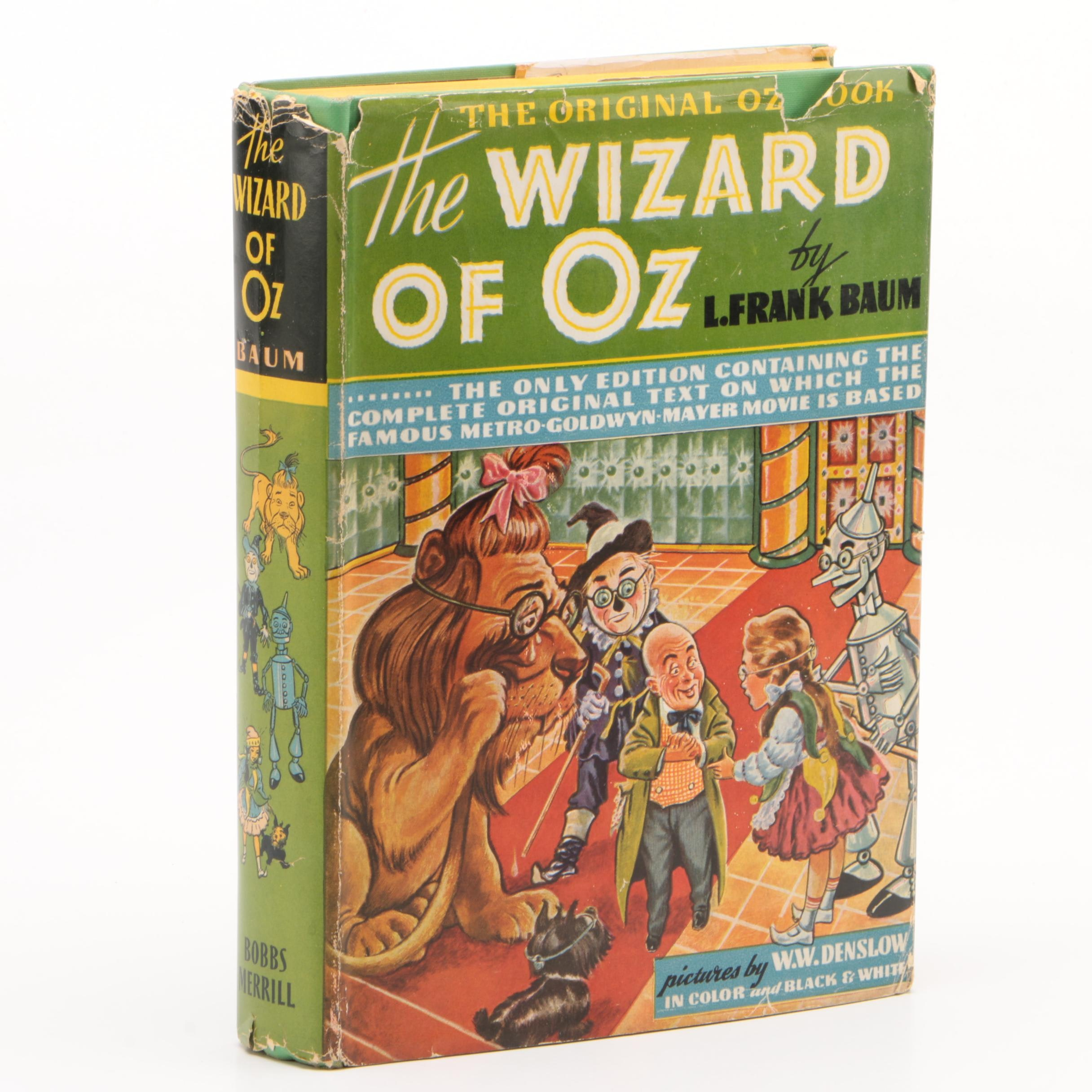"""1939 MGM Movie Edition """"The Wizard of Oz"""" by L. Frank Baum"""
