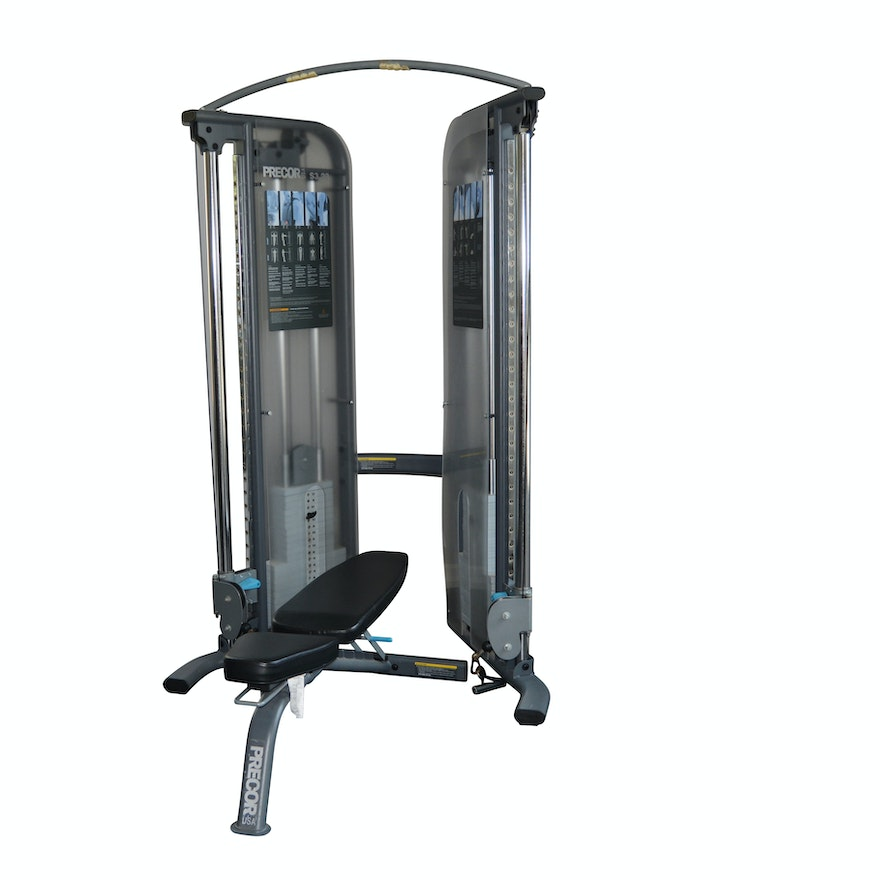 Precor S3 23 Functional Trainer Weight System And Bench Combination