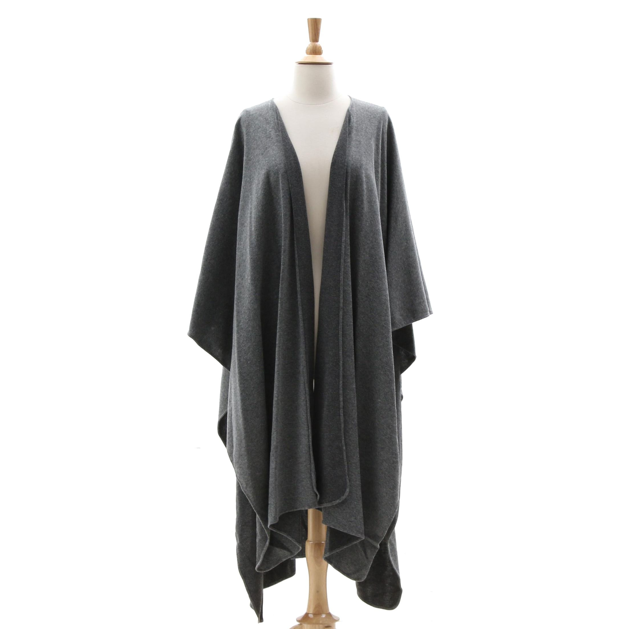 Victor Costa Gray Knit Shawl