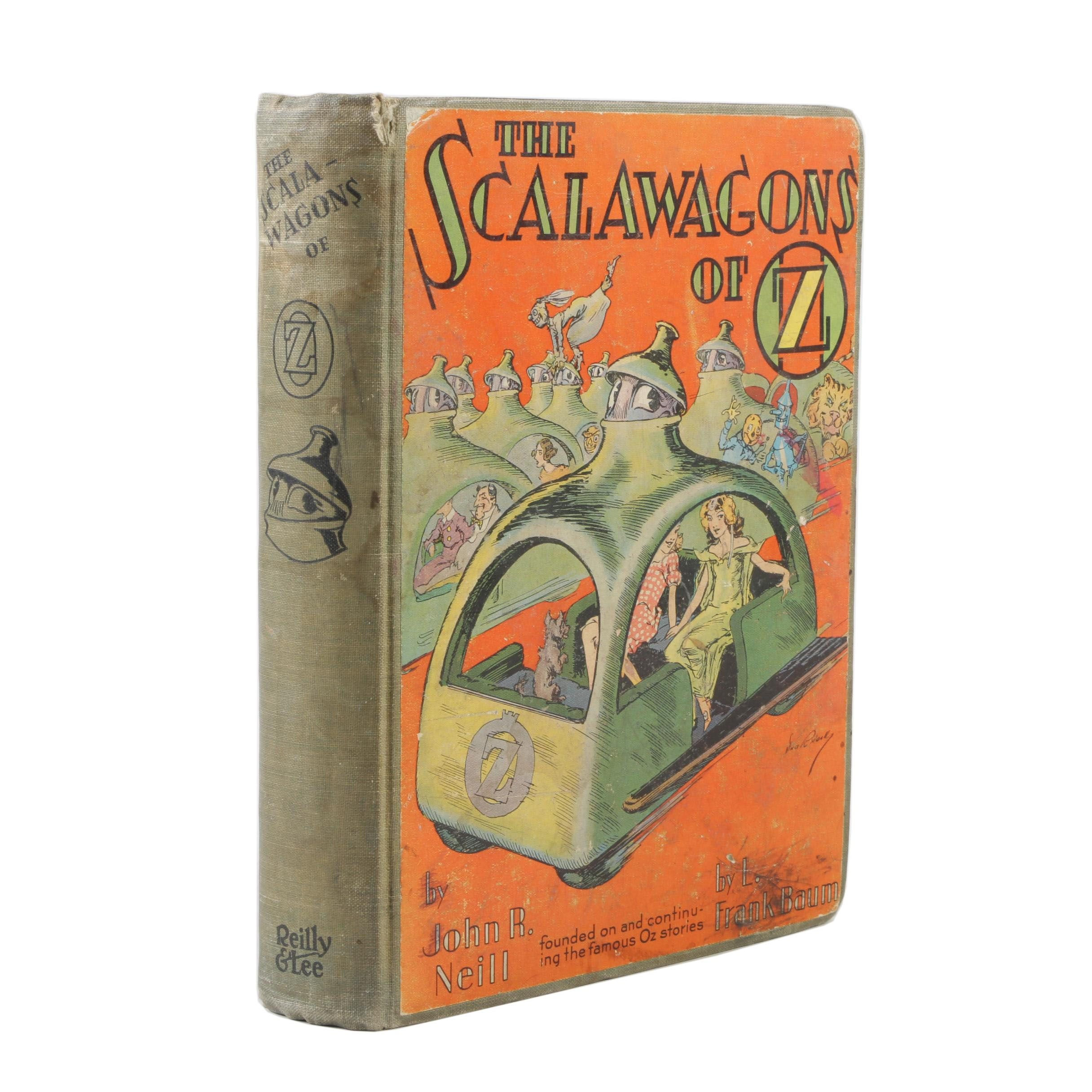"""1941 First Printing """"The Scalawagons of Oz"""" by John R. Neill"""