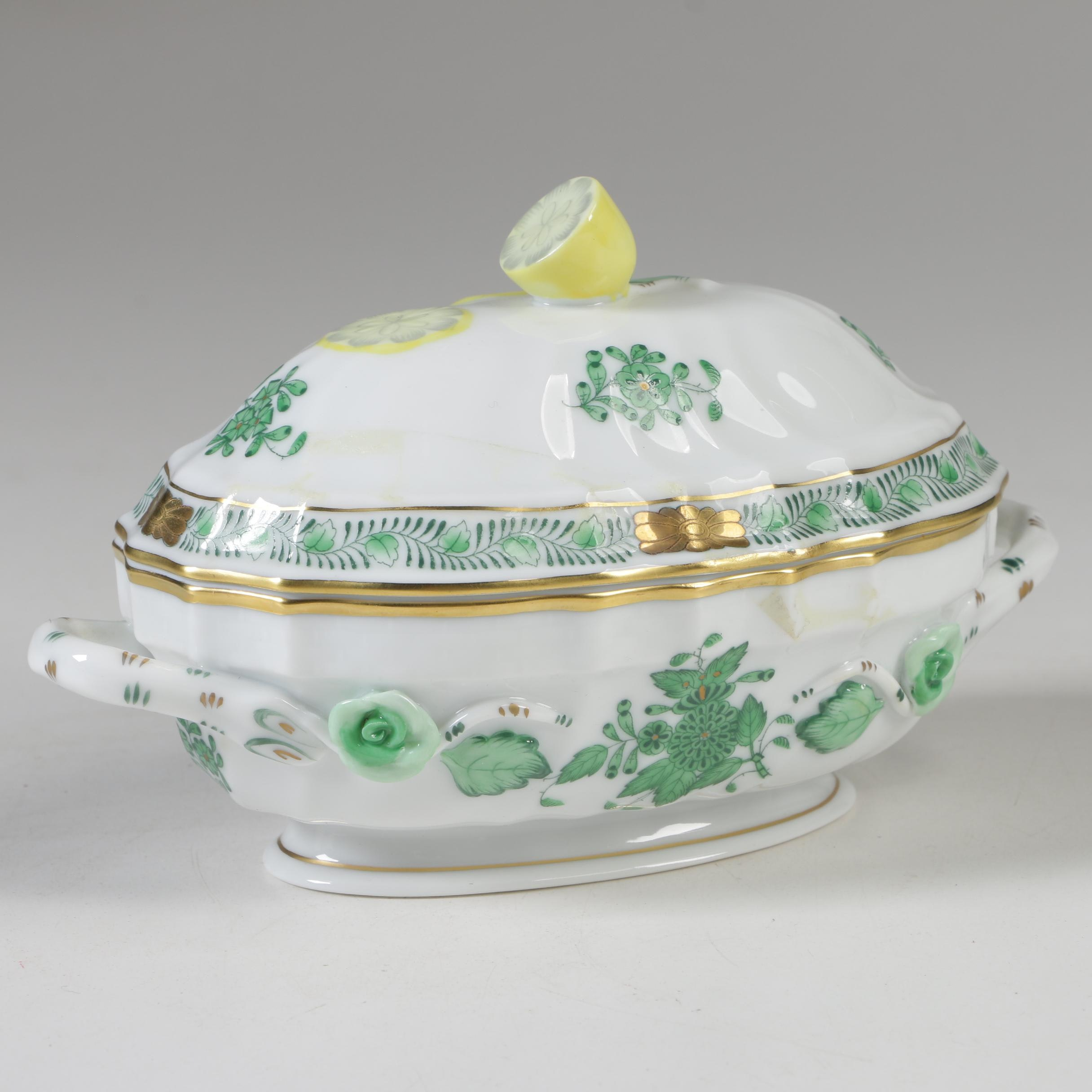 "Herend ""Chinese Bouquet"" Porcelain Miniature Tureen"