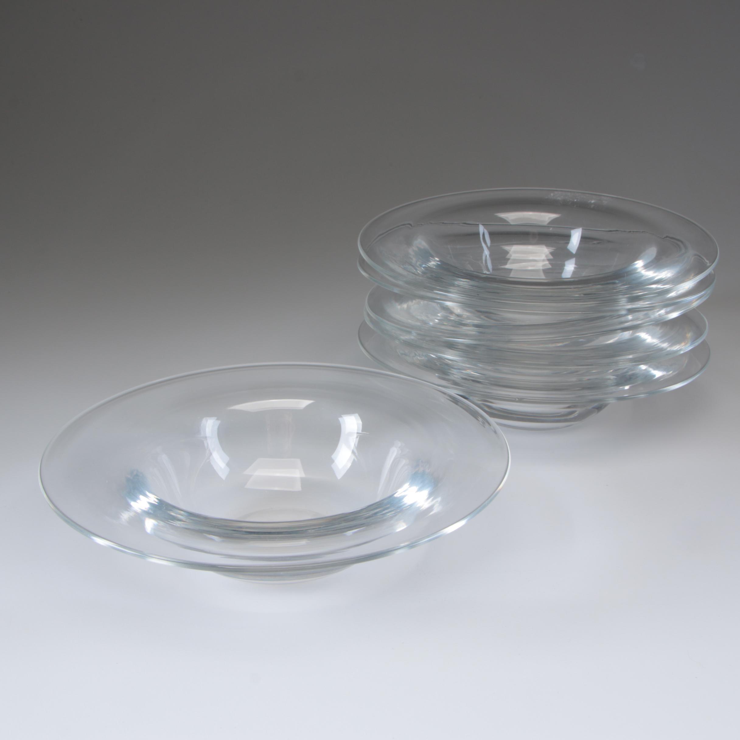 Steuben Art Glass Rim Bowls, Mid-Century