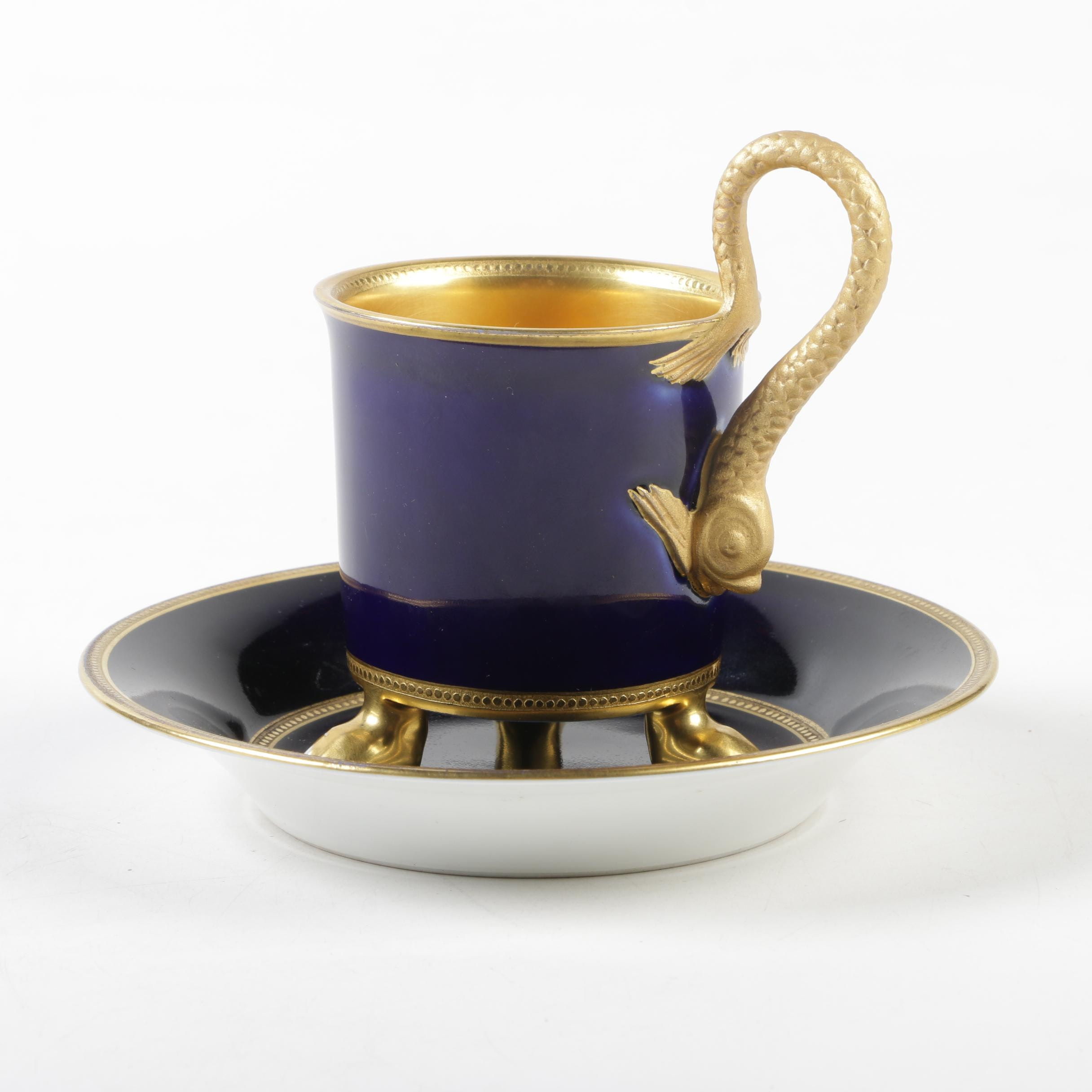 Royal Vienna Style Porcelain Cup and Saucer
