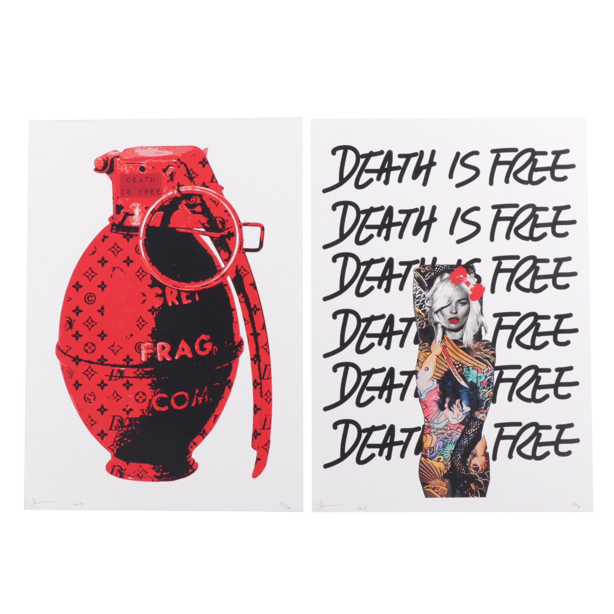 Death NYC Grenade and Death is Free Offset Prints