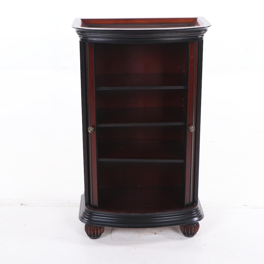 Bombay Company Cherry Finish Mahogany Cabinet with Tambour ...